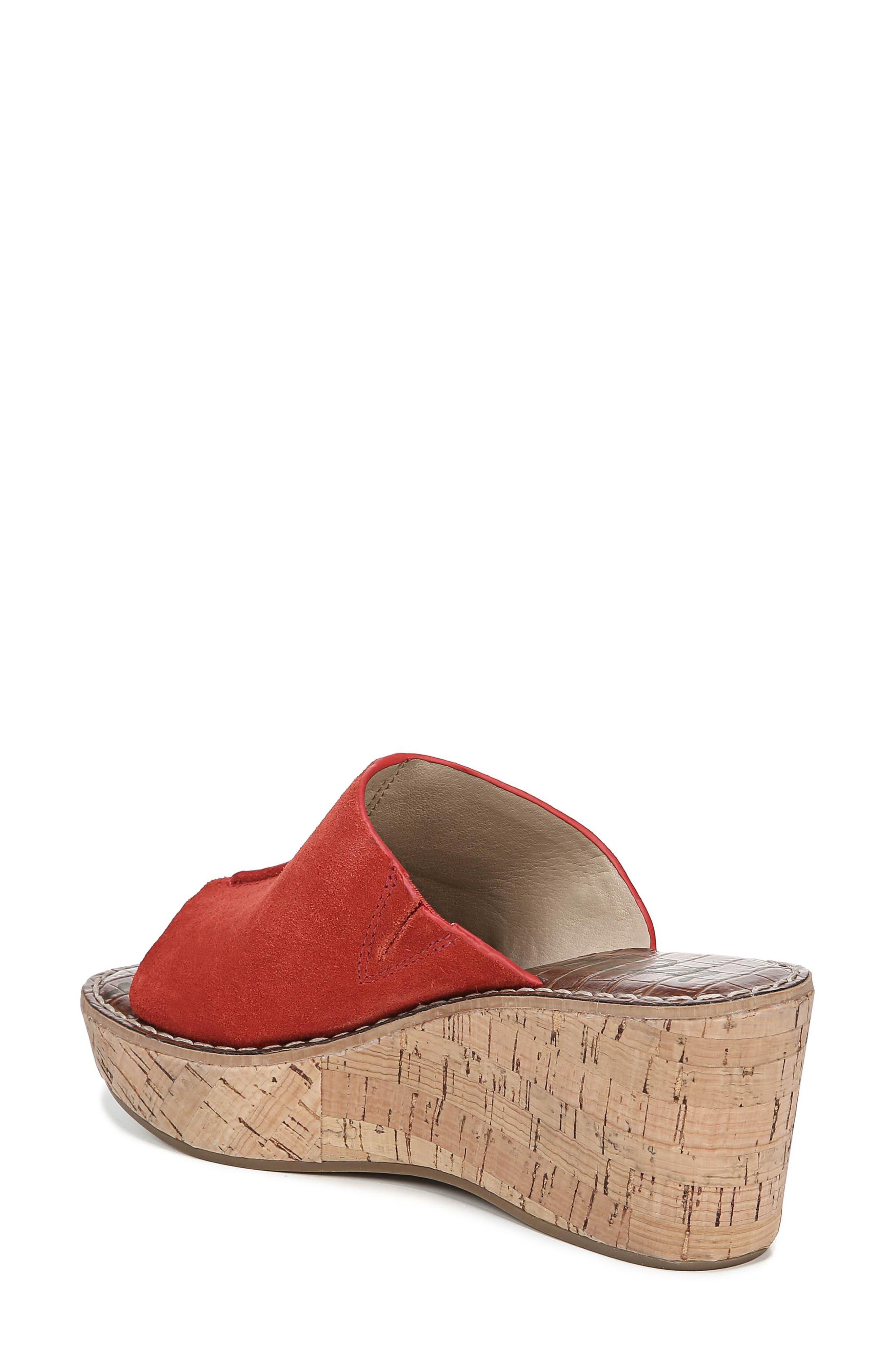 Ranger Platform Sandal,                             Alternate thumbnail 2, color,                             CANDY RED SUEDE