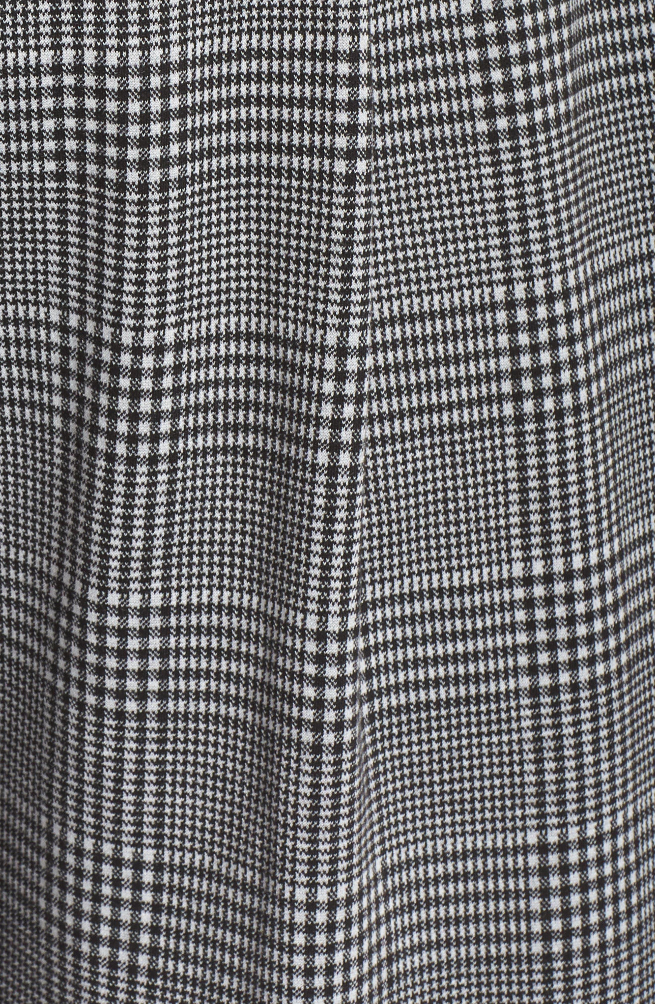 Glen Plaid Jumpsuit,                             Alternate thumbnail 12, color,                             BLACK- WHITE DELIA PLAID