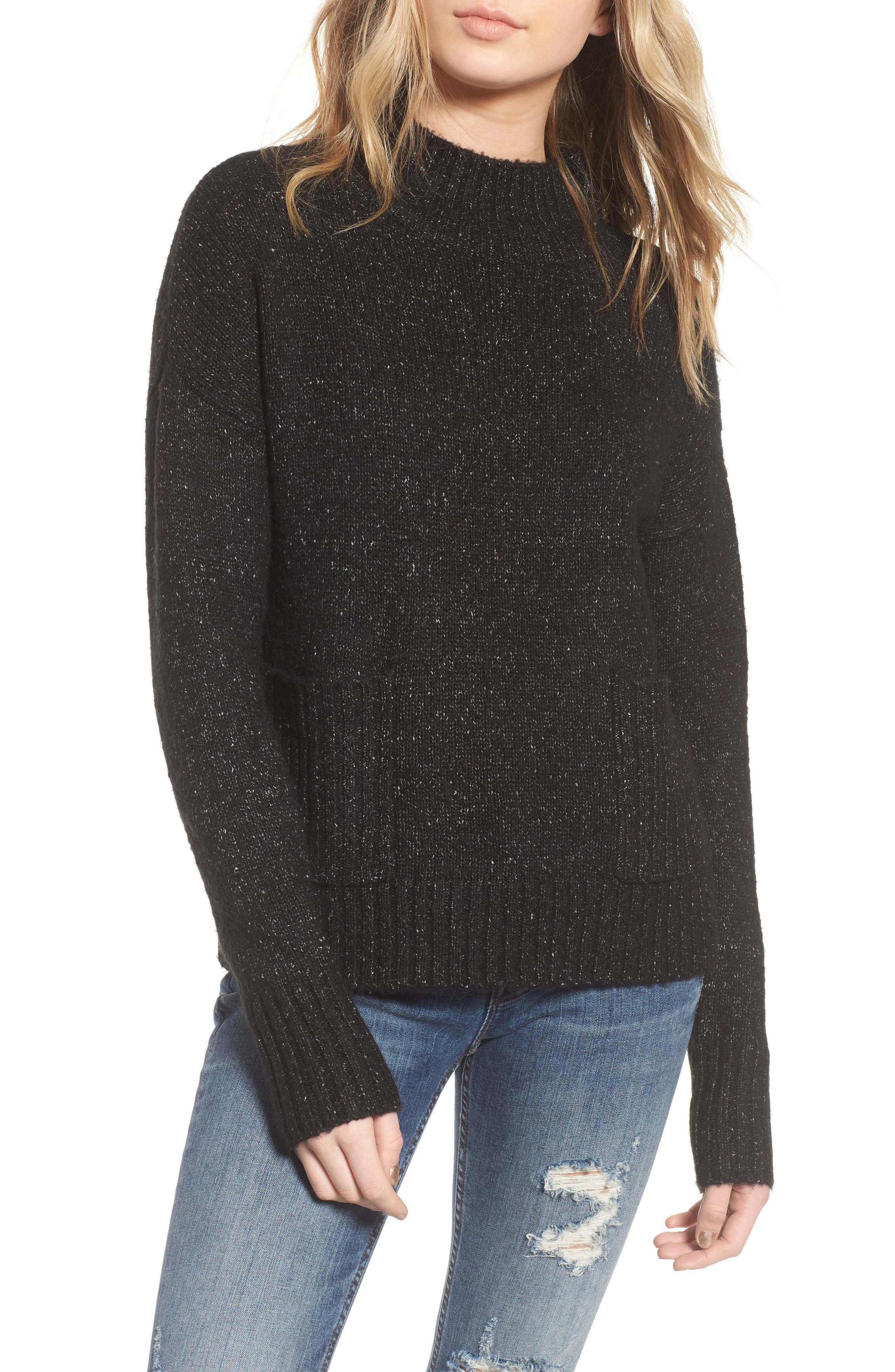 Mock Neck Patch Pocket Pullover,                         Main,                         color, 003
