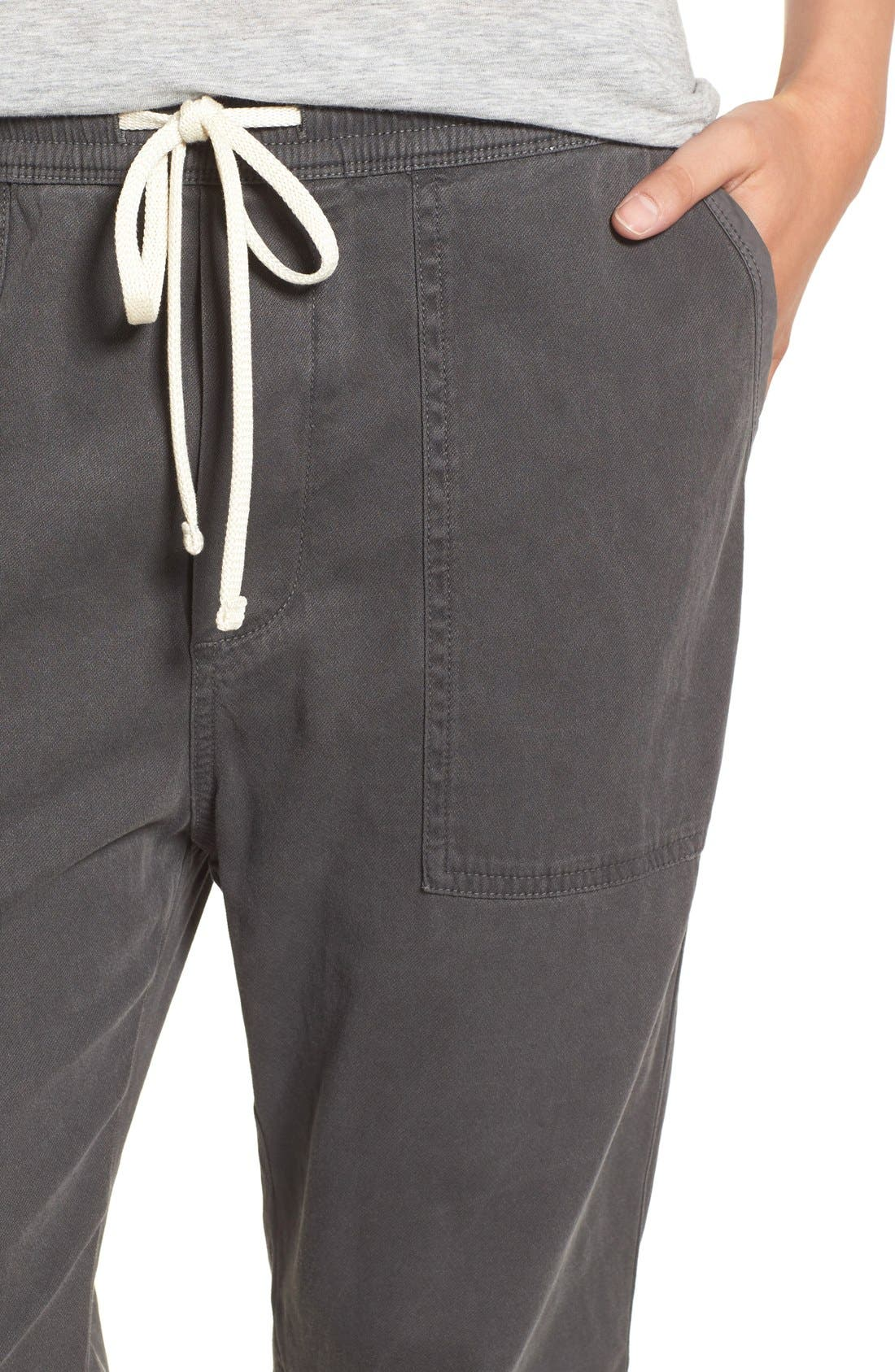Relaxed Crop Twill Pants,                             Alternate thumbnail 4, color,                             203