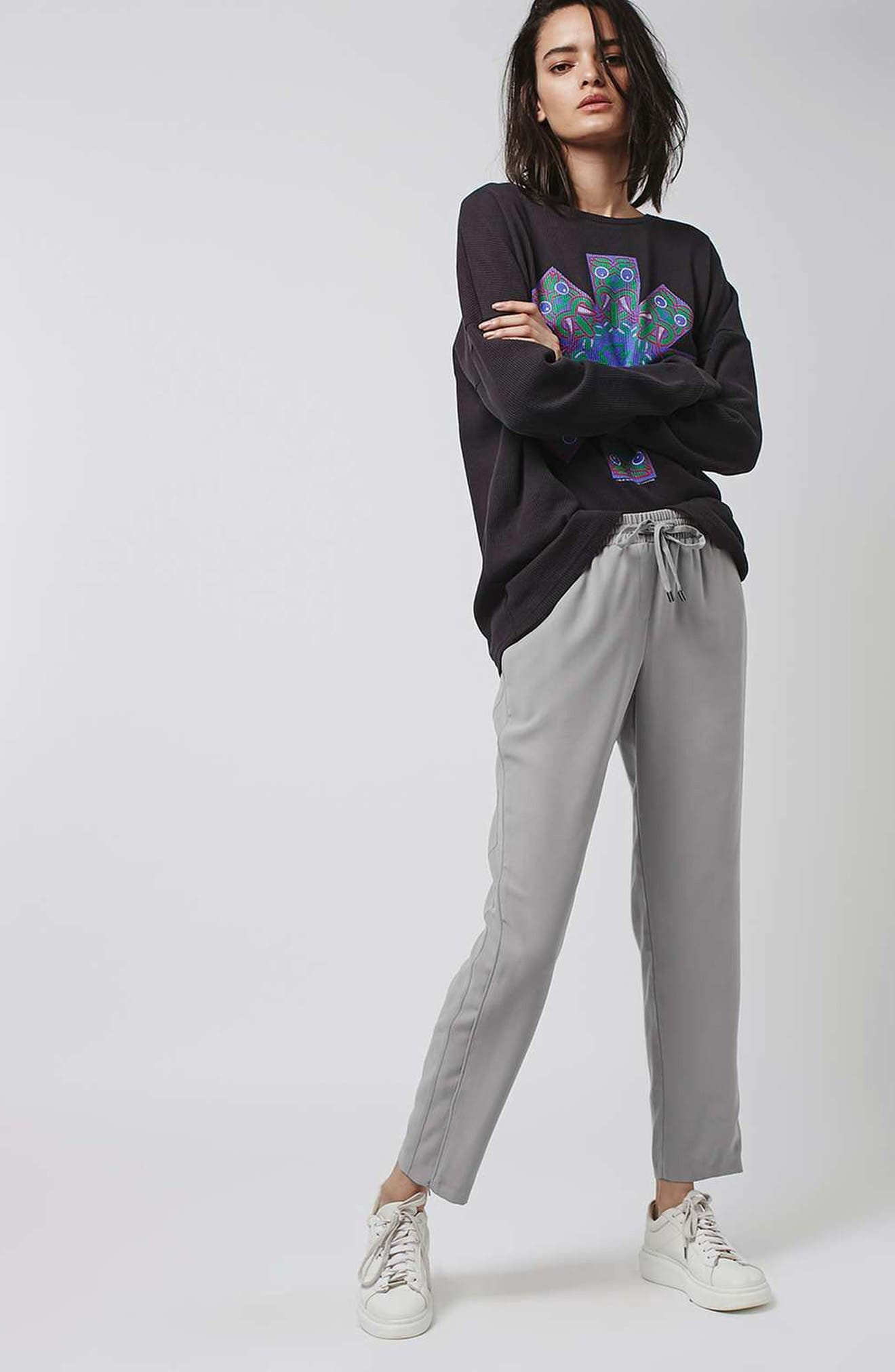 Contrast Piped Ankle Zip Jogger Pants,                             Alternate thumbnail 4, color,                             020