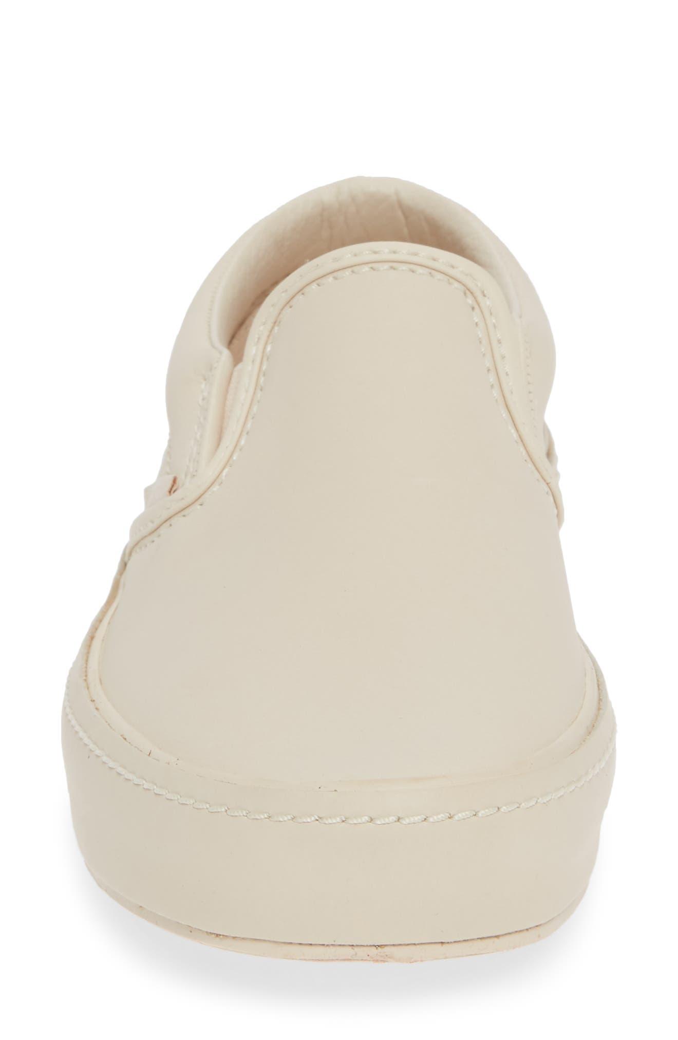 VANS,                             Classic Leather Slip-On Sneaker,                             Alternate thumbnail 4, color,                             270