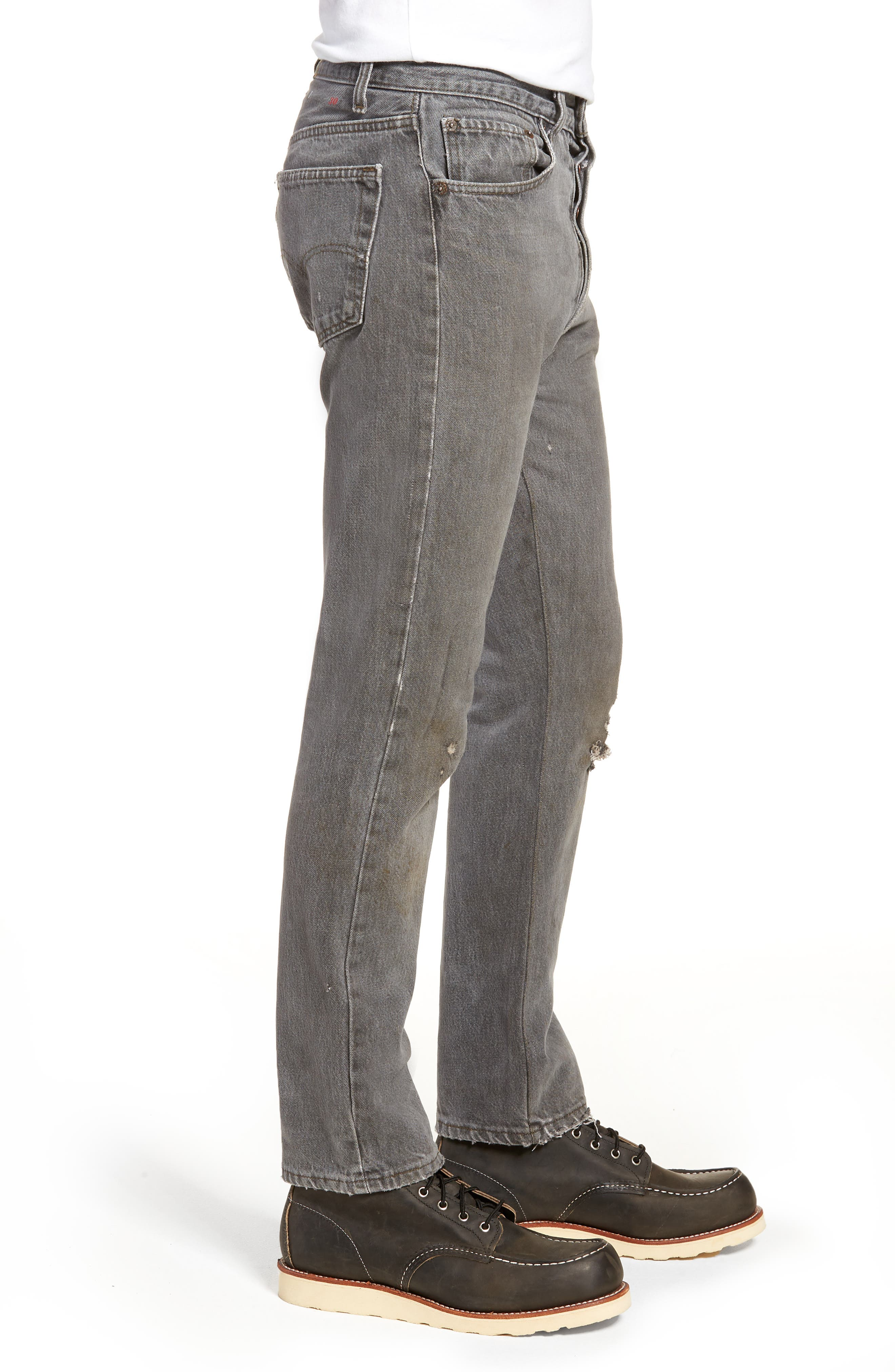 Authorized Vintage 501<sup>™</sup> Tapered Slim Fit Jeans,                             Alternate thumbnail 3, color,                             AV BLACK