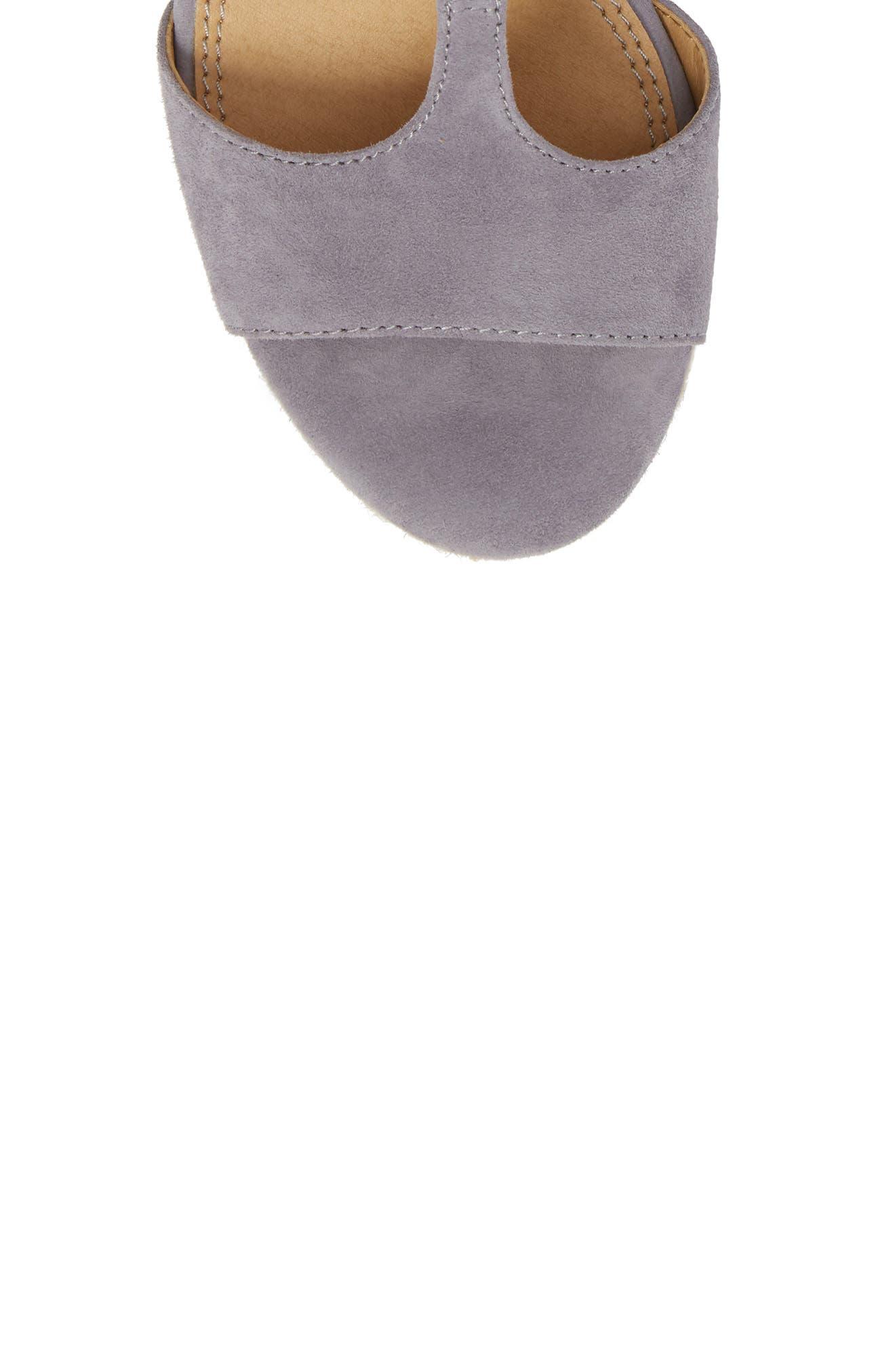 Fianna Espadrille Wedge Sandal,                             Alternate thumbnail 5, color,                             STEEL GREY SUEDE