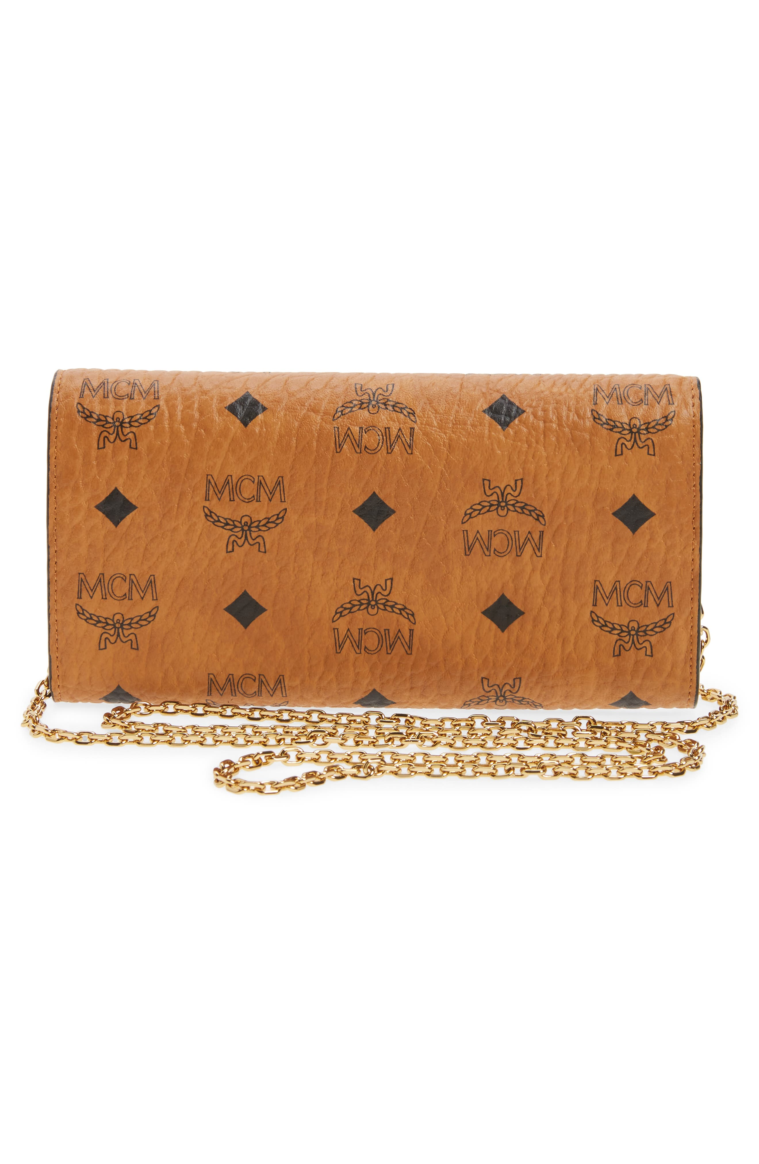 Large Patricia Visetos Canvas Wallet on a Chain,                             Alternate thumbnail 8, color,