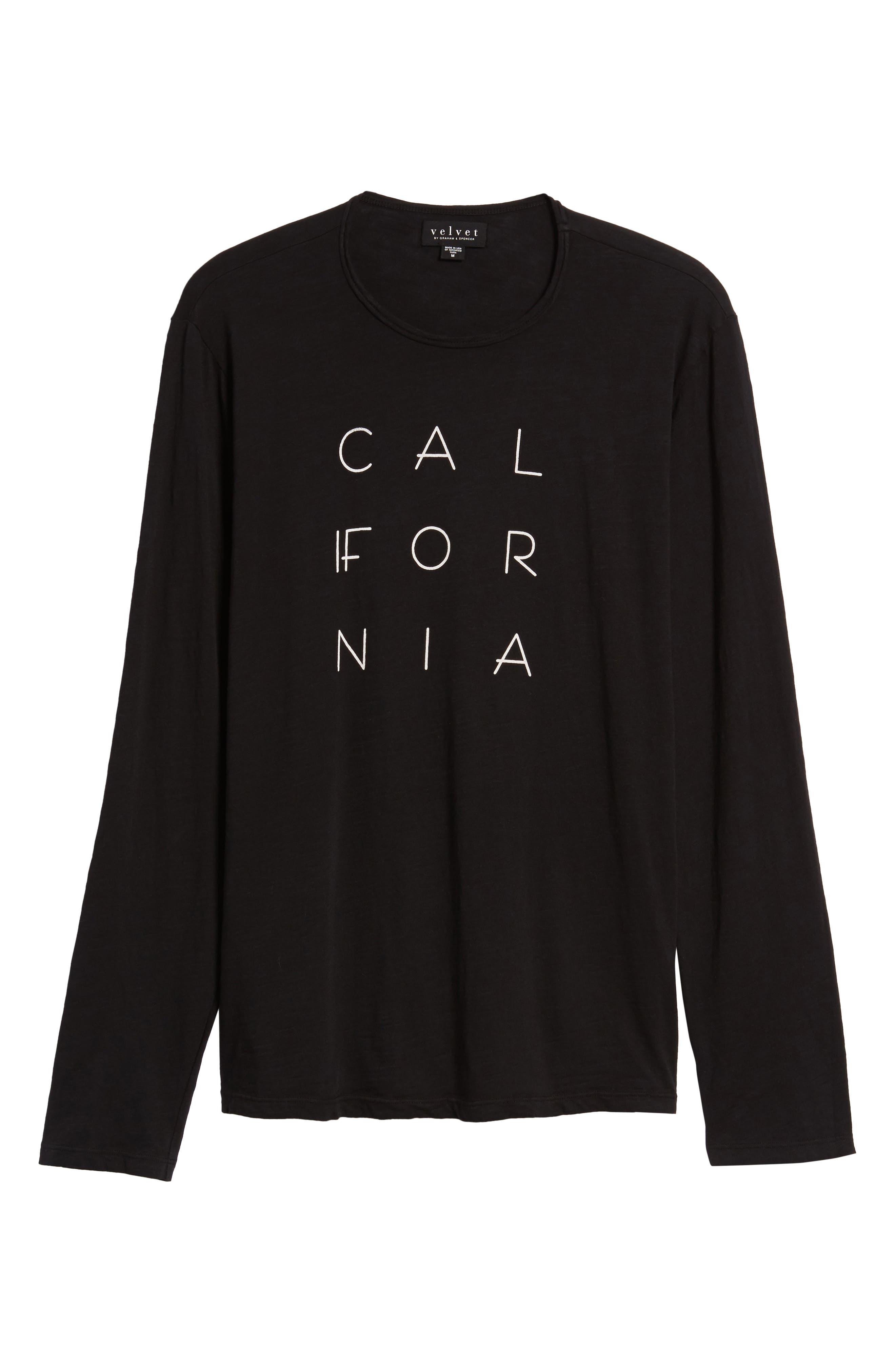 California Graphic Long-Sleeve T-Shirt,                             Alternate thumbnail 6, color,                             001