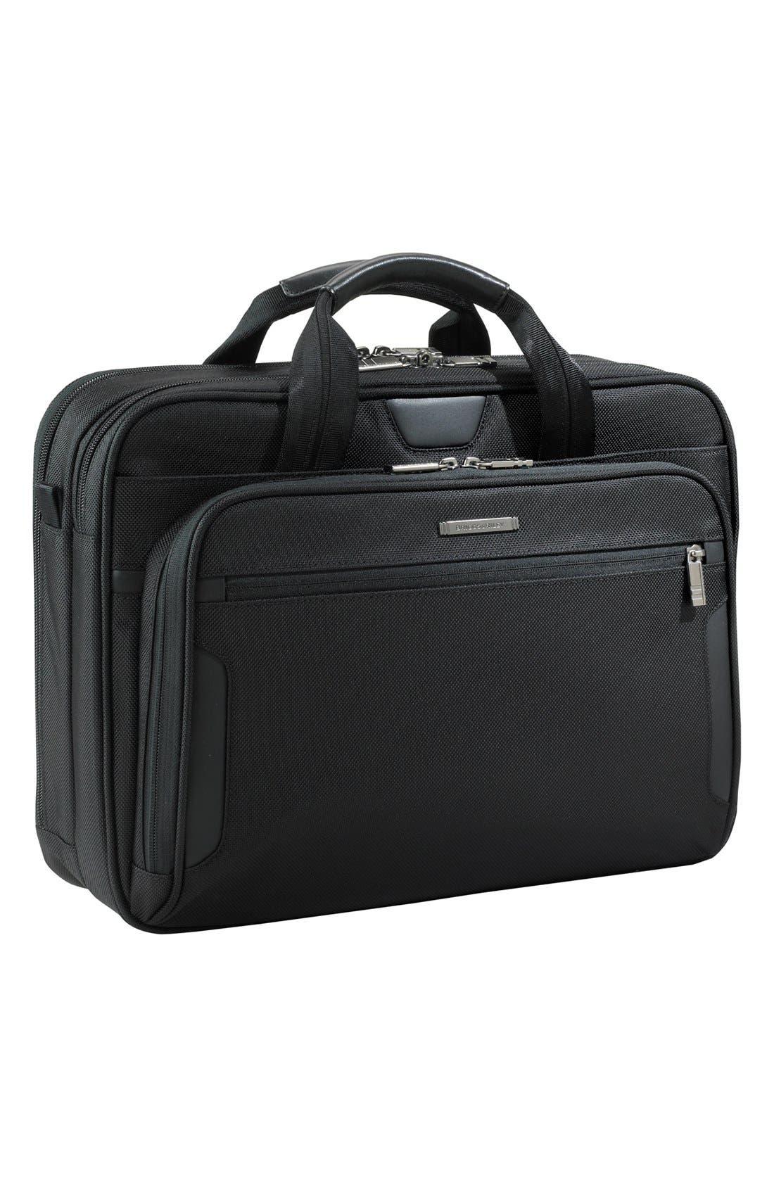 'Medium' Ballistic Nylon Briefcase,                             Main thumbnail 1, color,                             004