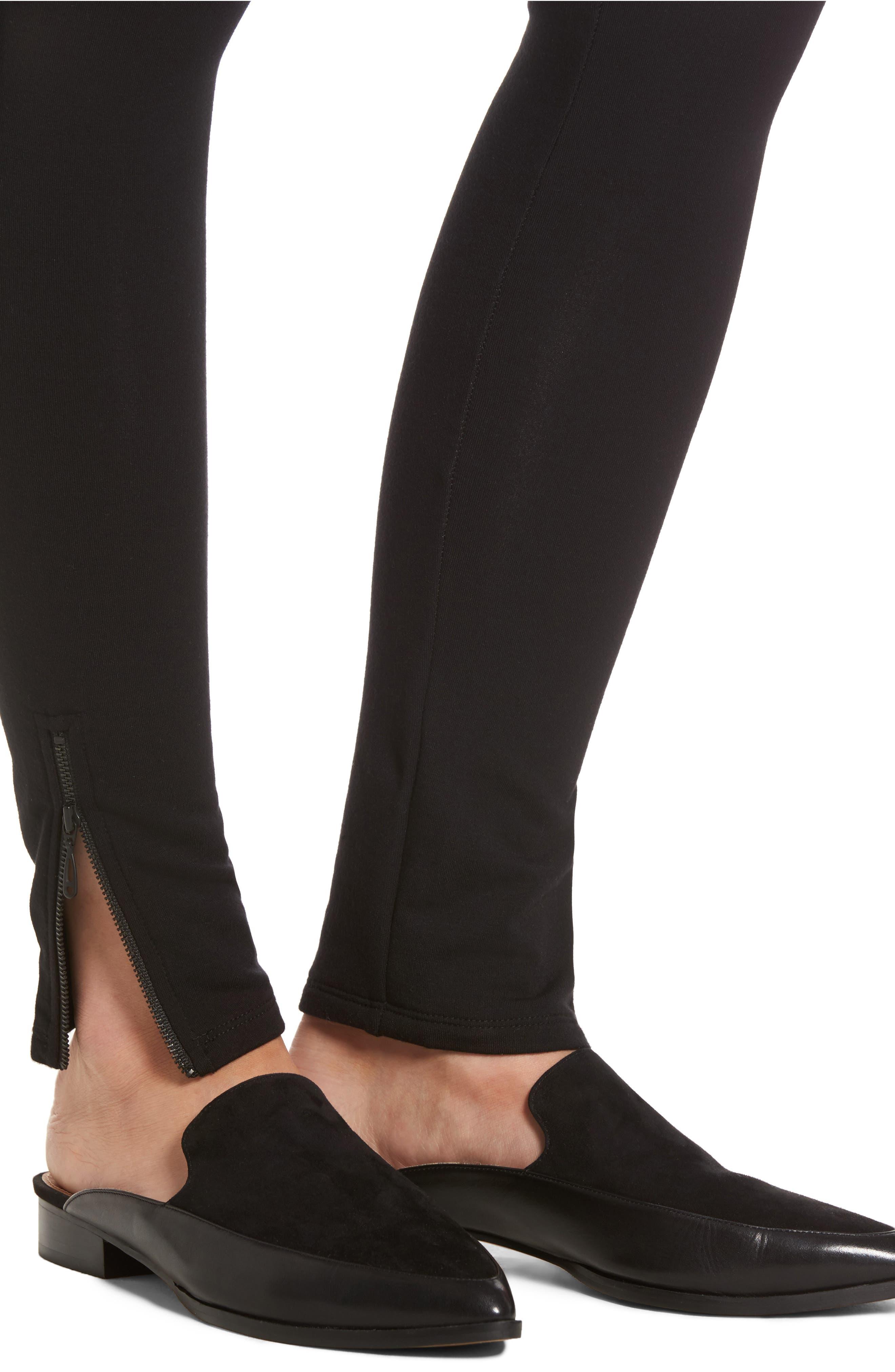 NIC + ZOE Cozy Zipper Leggings,                             Alternate thumbnail 4, color,                             004