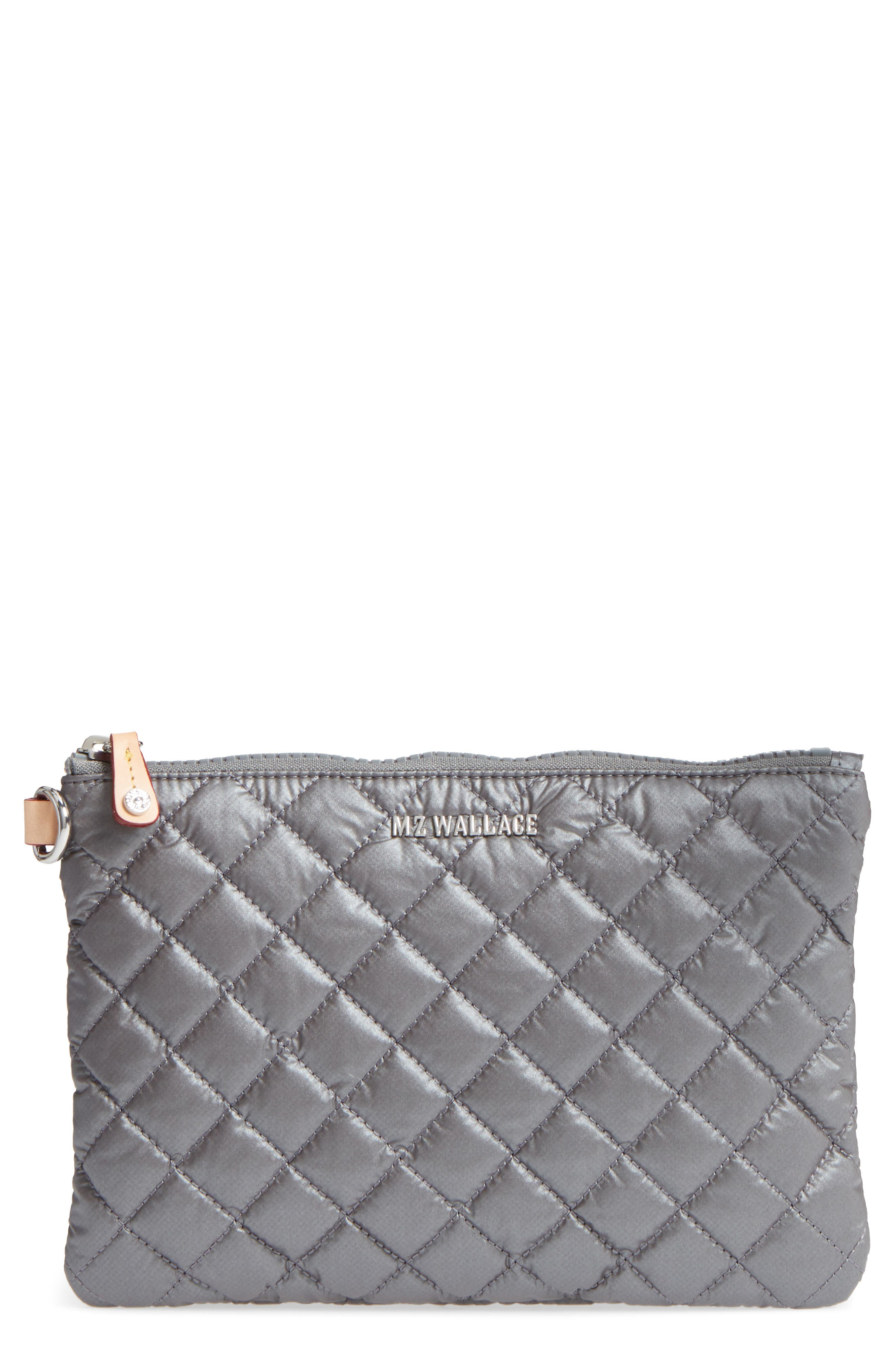 Small Metro Quilted Oxford Nylon Zip Pouch,                             Main thumbnail 2, color,