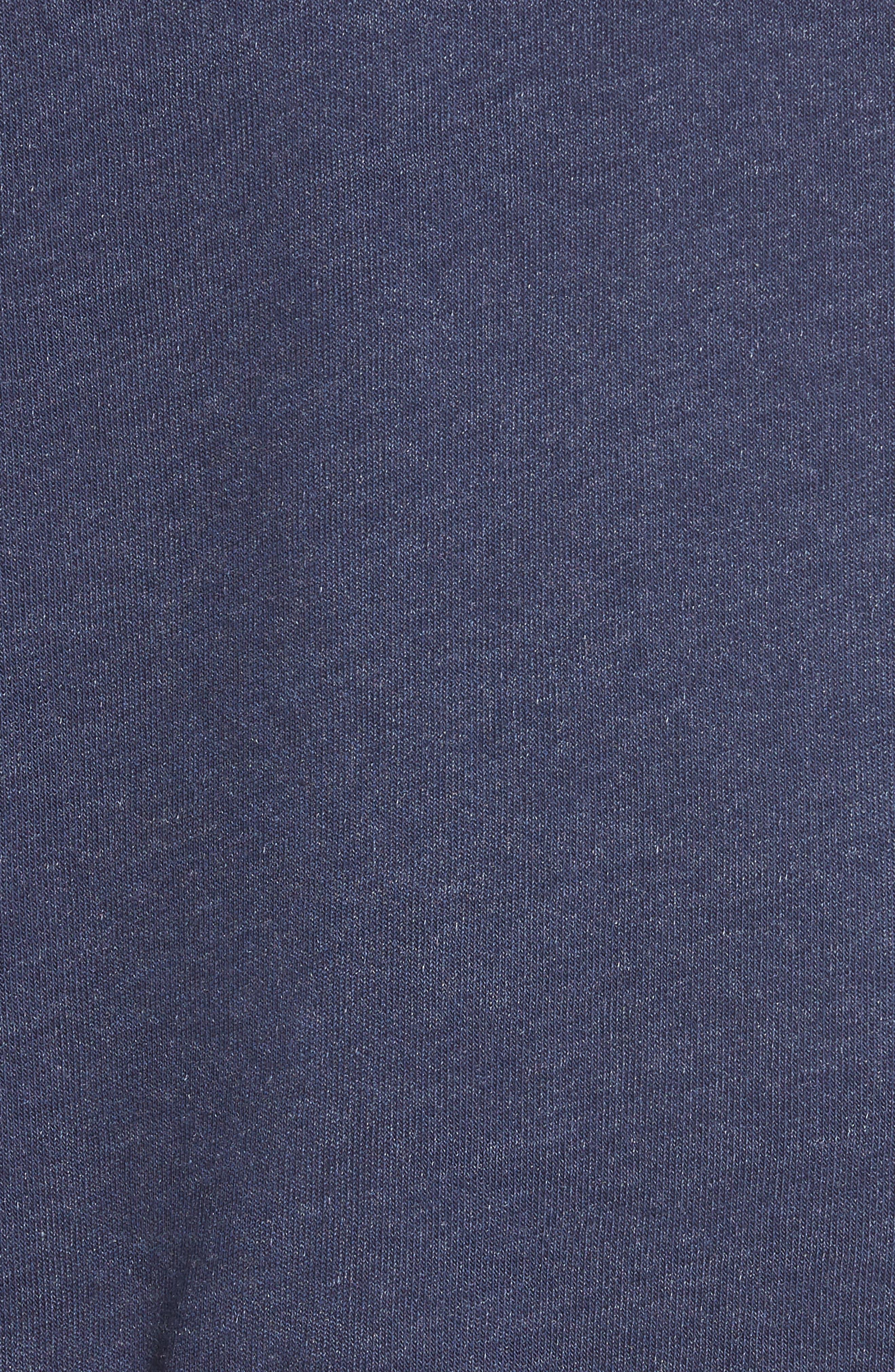 Regan Varsity Stripe Zip Hoodie,                             Alternate thumbnail 5, color,                             410