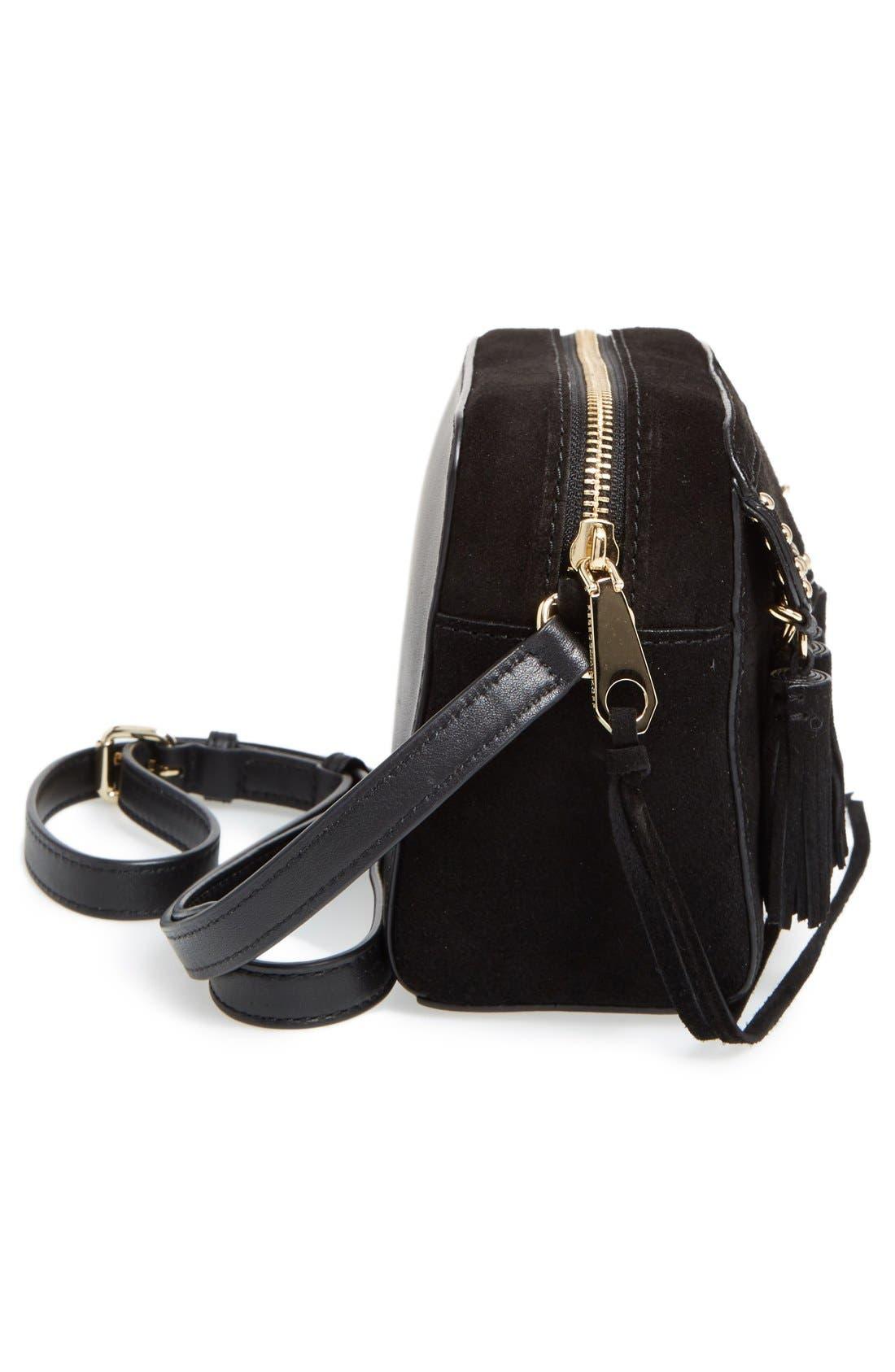 Multi Tassel Camera Bag,                             Alternate thumbnail 4, color,                             001