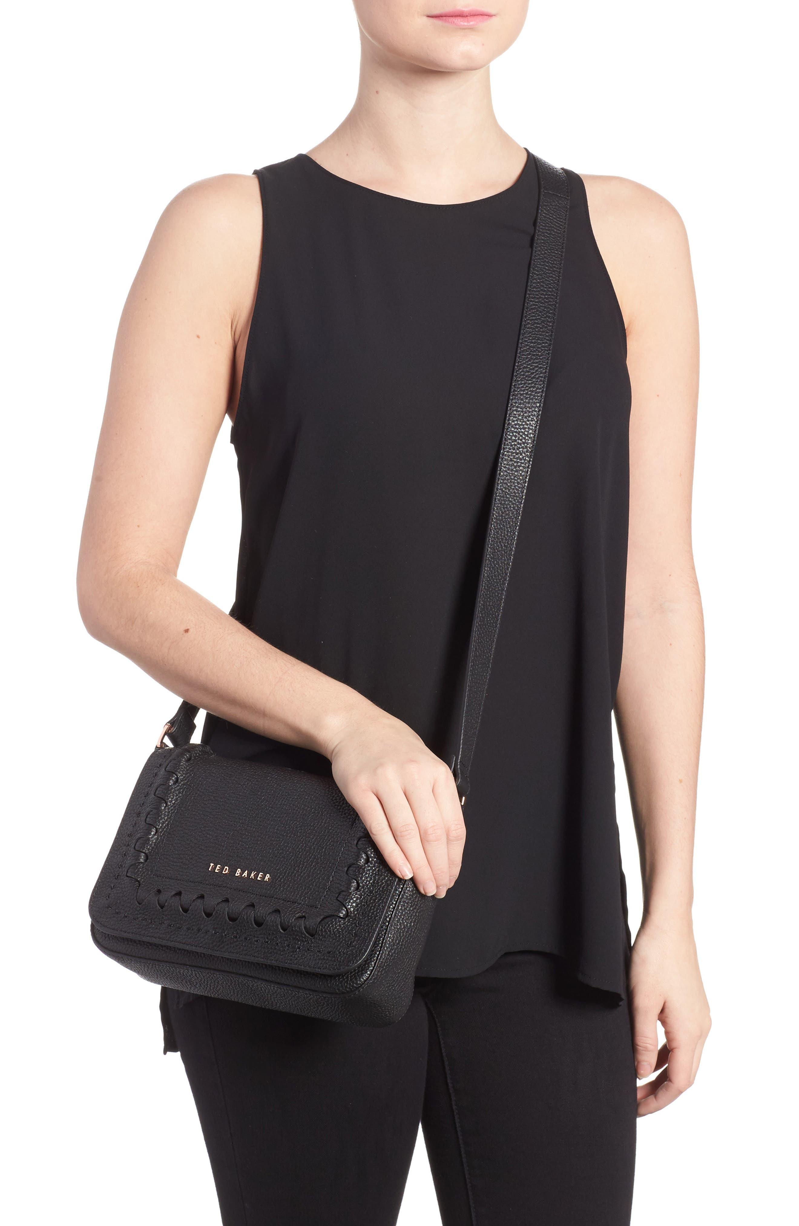 Tippi Leather Crossbody Bag,                             Alternate thumbnail 4, color,