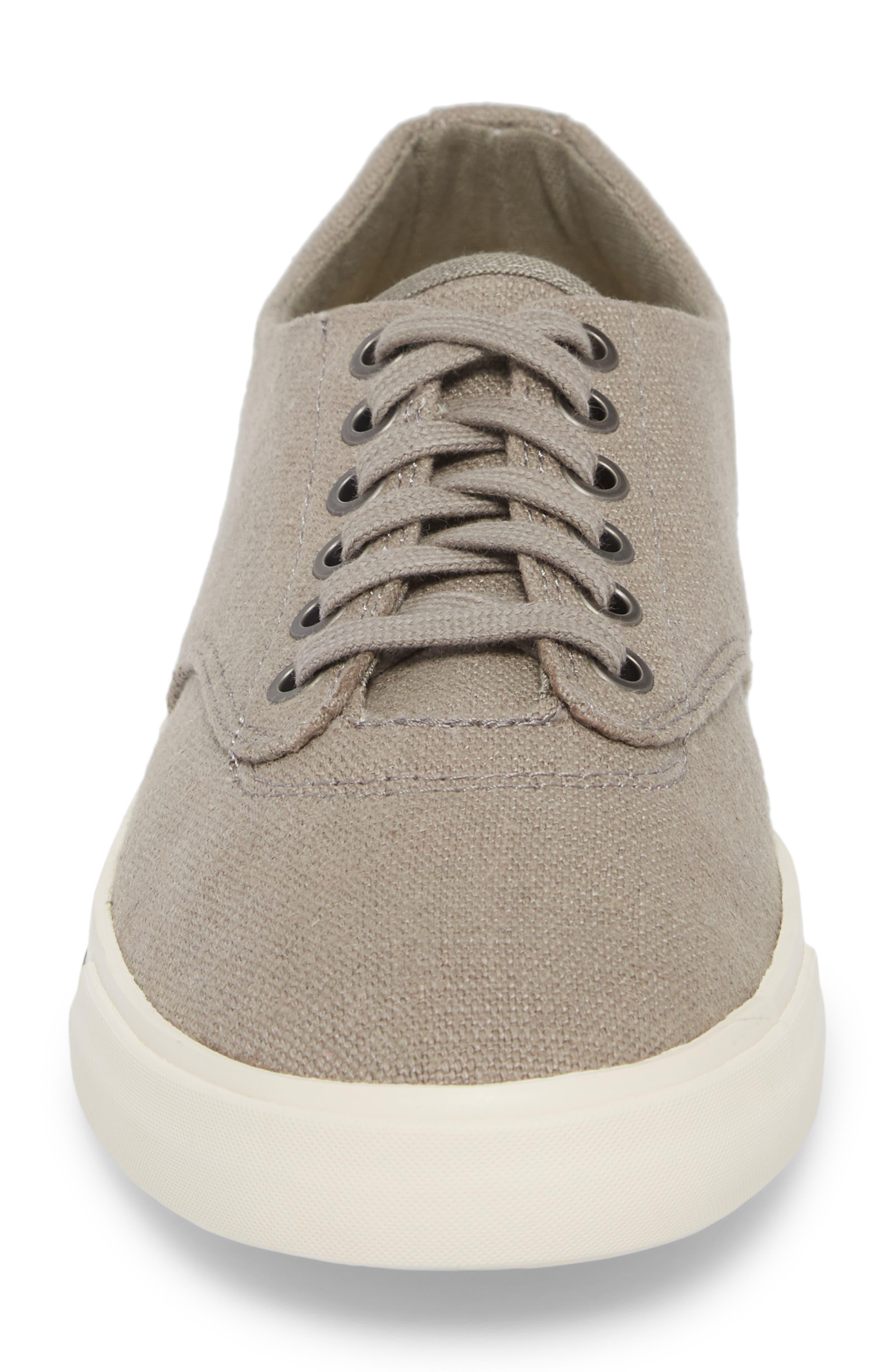'Hermosa Plimsoll' Sneaker,                             Alternate thumbnail 4, color,                             TIN GREY VINTAGE WASH LINEN