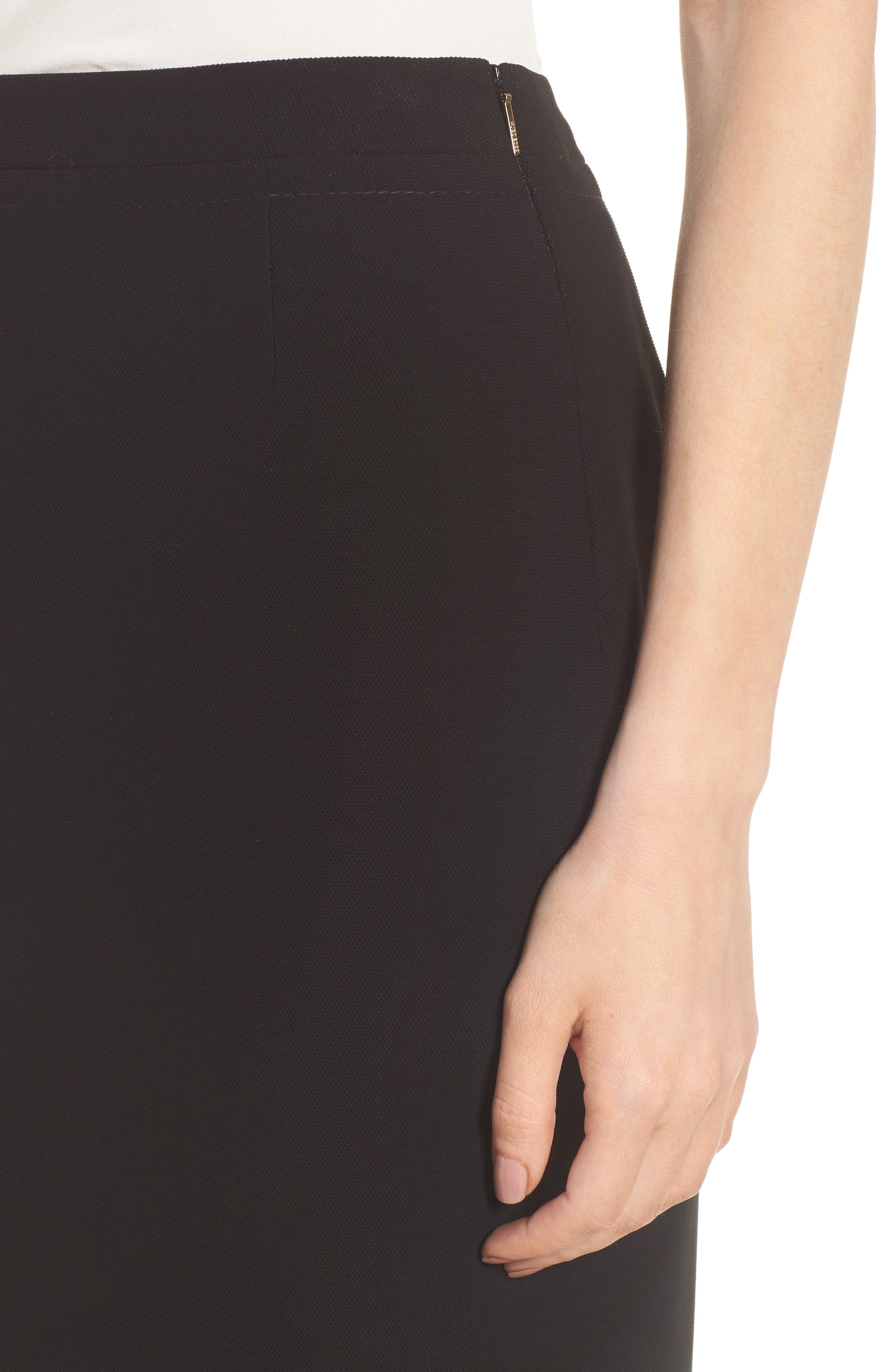 BOSS,                             Vuriona Pencil Skirt,                             Alternate thumbnail 4, color,                             001