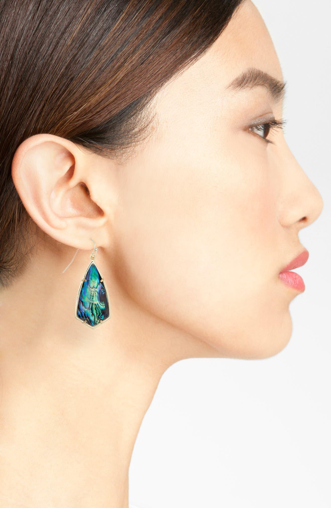Carla Semiprecious Stone Drop Earrings,                             Alternate thumbnail 17, color,