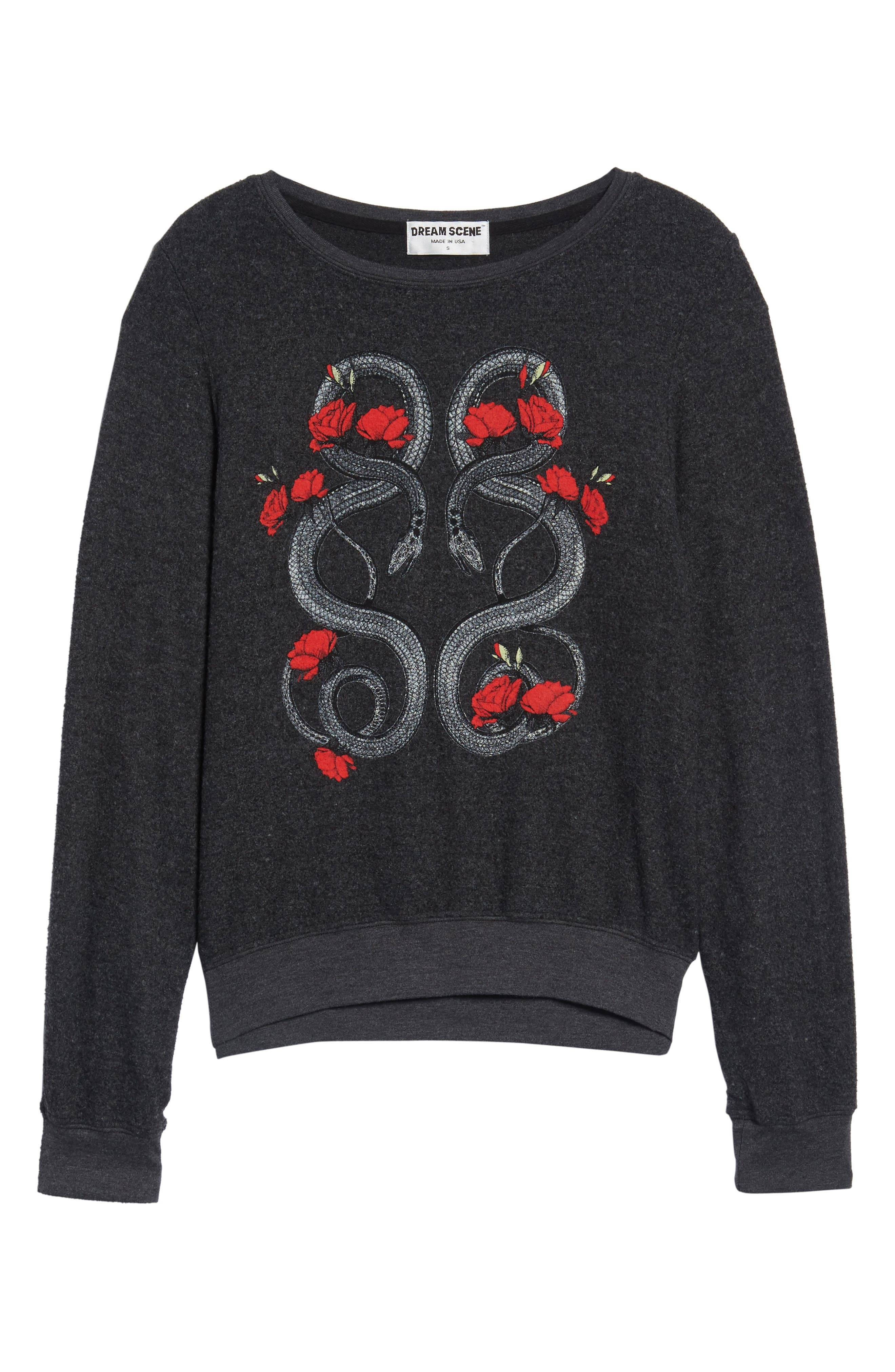 Red Snakes Sweatshirt,                             Alternate thumbnail 6, color,                             002