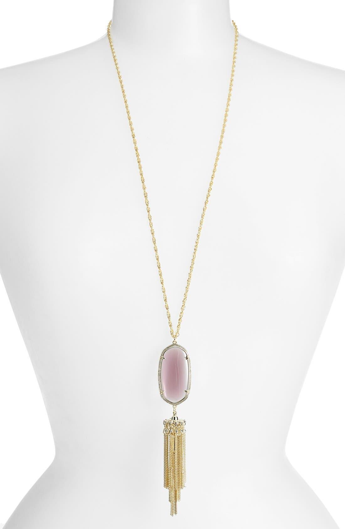 Rayne Stone Tassel Pendant Necklace,                             Main thumbnail 56, color,