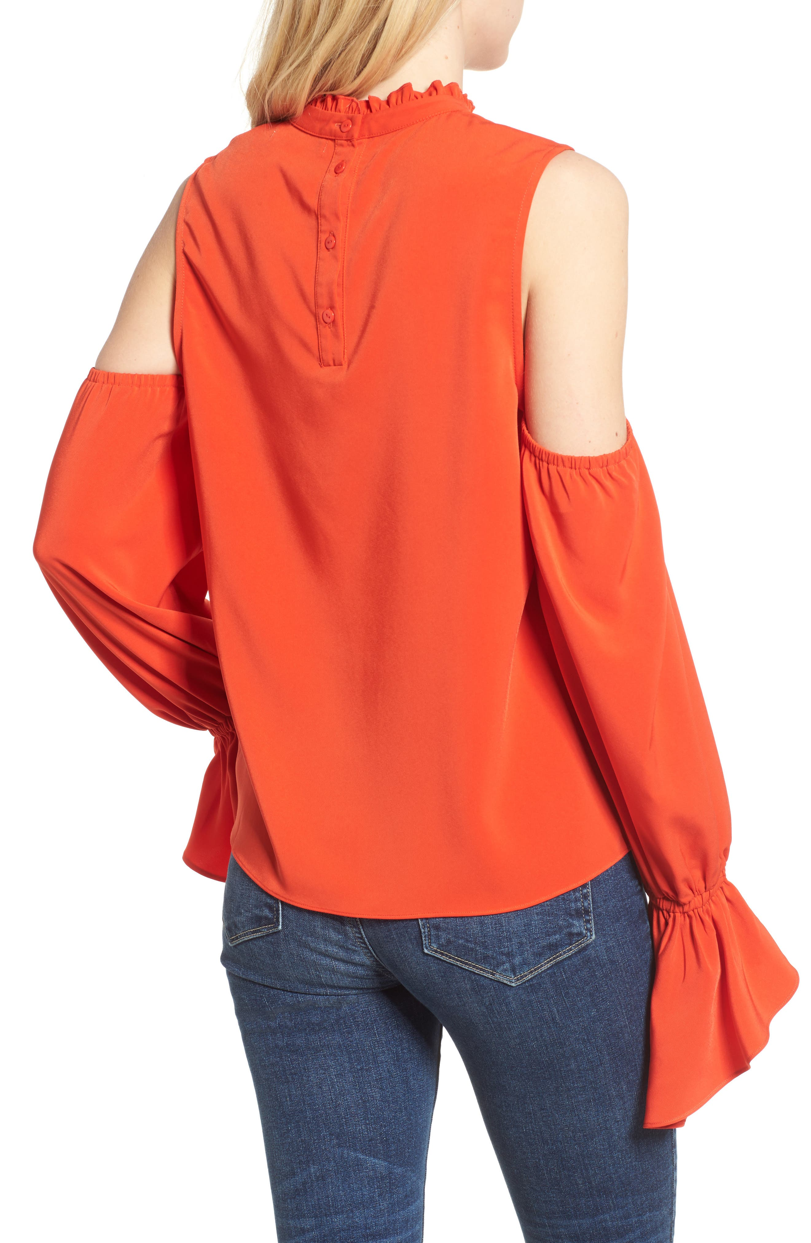 Cold Shoulder Blouse,                             Alternate thumbnail 2, color,                             603