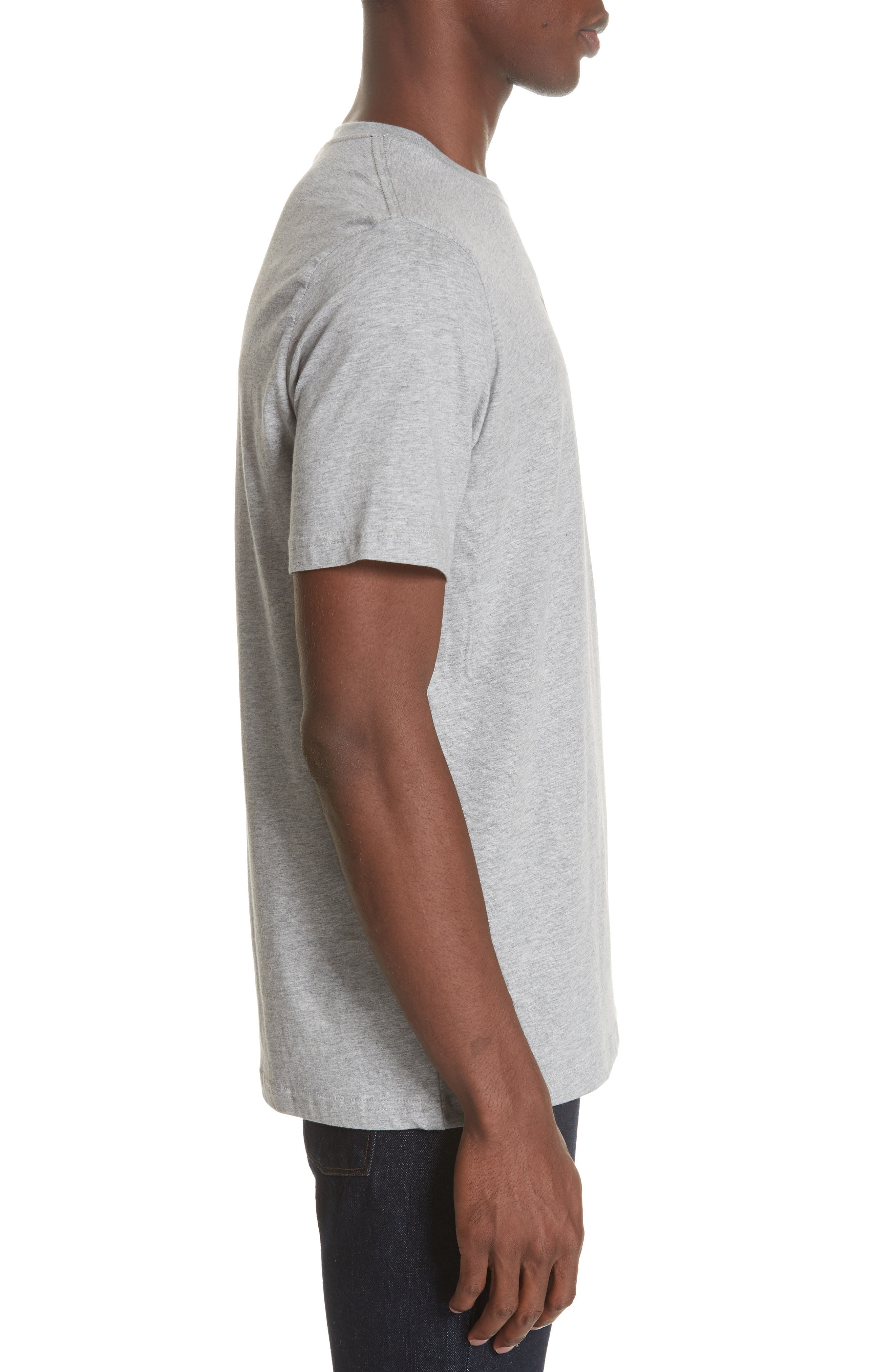 Zebra Organic Cotton T-Shirt,                             Alternate thumbnail 3, color,                             GREY