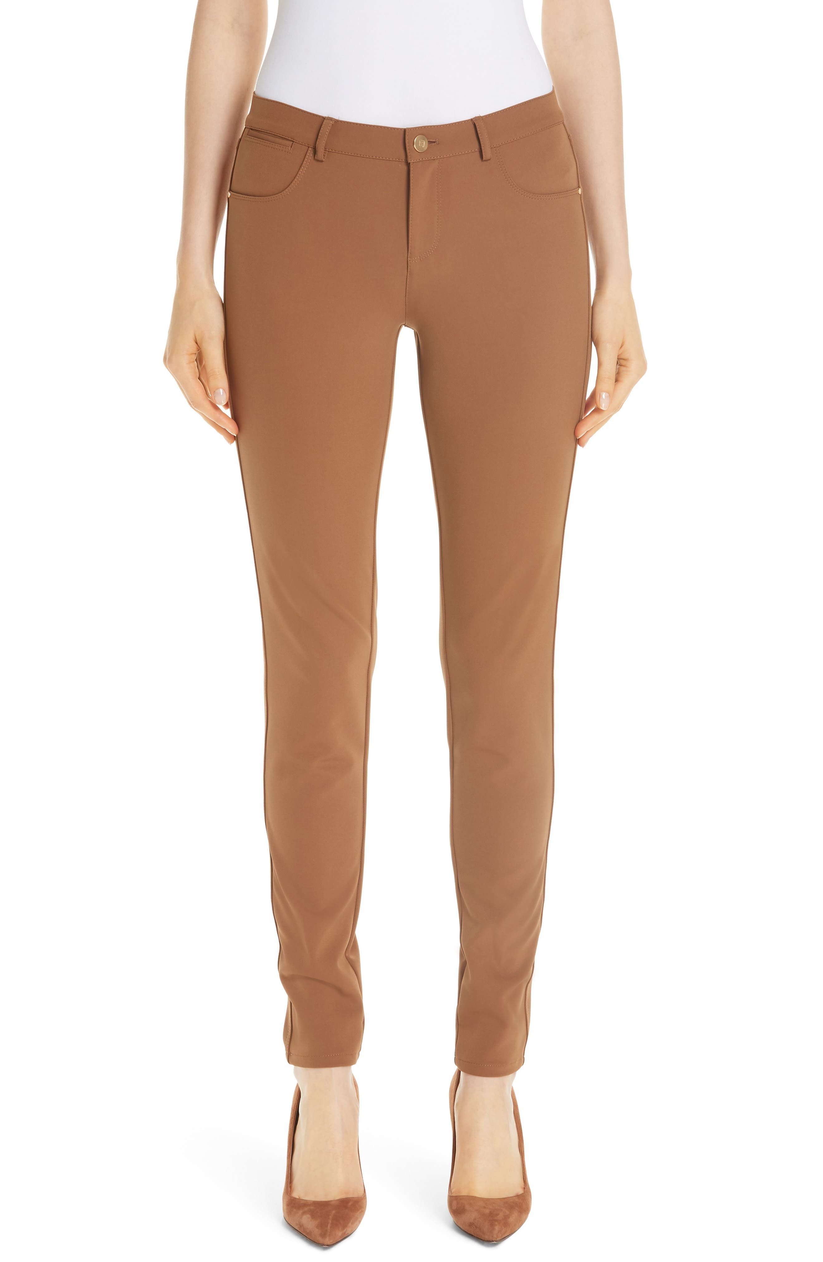 Mercer Acclaimed Stretch Mid-Rise Skinny Jeans in Maple
