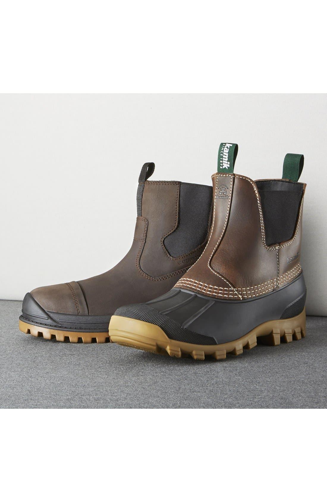Yukon C Snow Waterproof Boot,                             Alternate thumbnail 5, color,                             DARK BROWN LEATHER