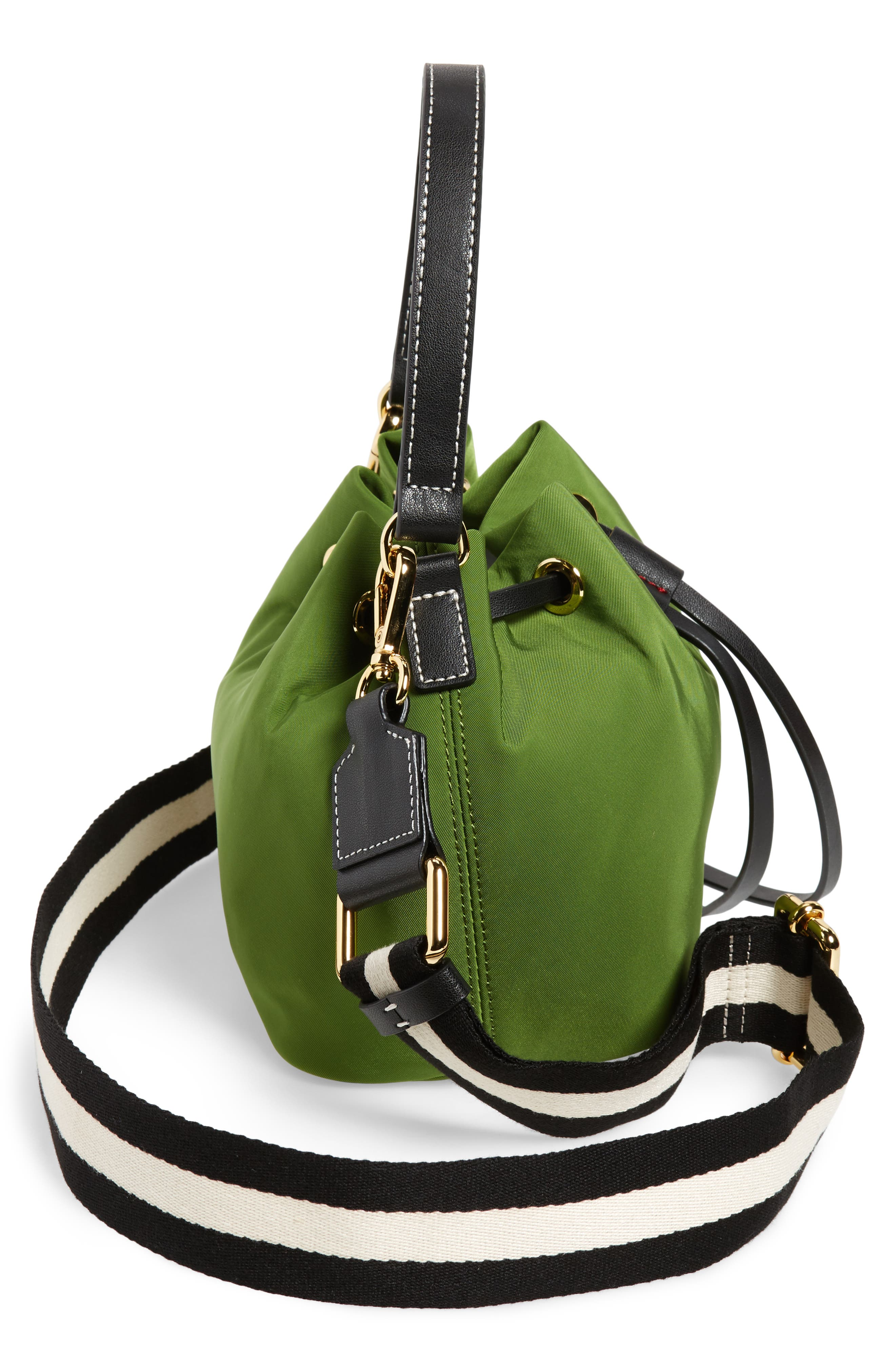 Small Ann Nylon Bucket Bag,                             Alternate thumbnail 13, color,
