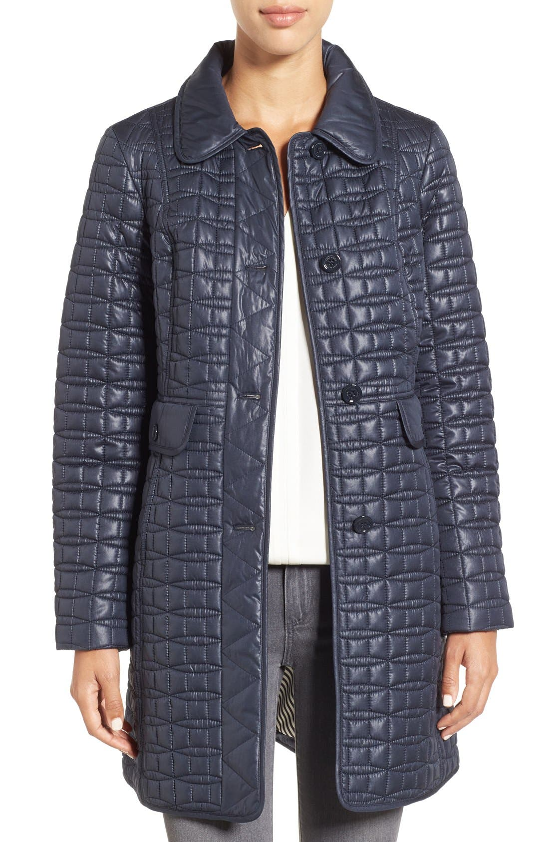 water resistant quilted coat,                             Main thumbnail 4, color,