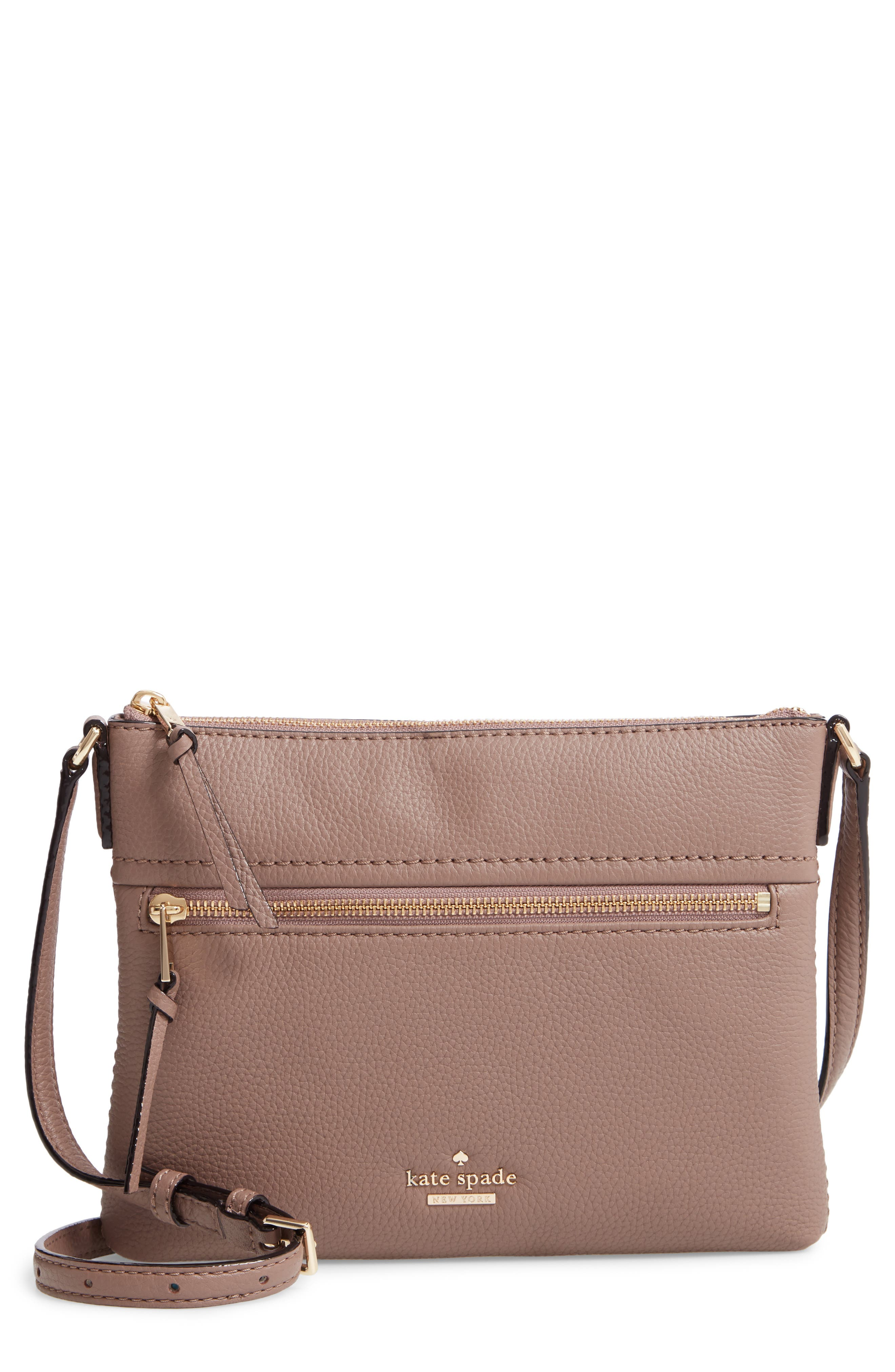 jackson street - gabriele leather crossbody bag,                         Main,                         color, BROWNSTONE