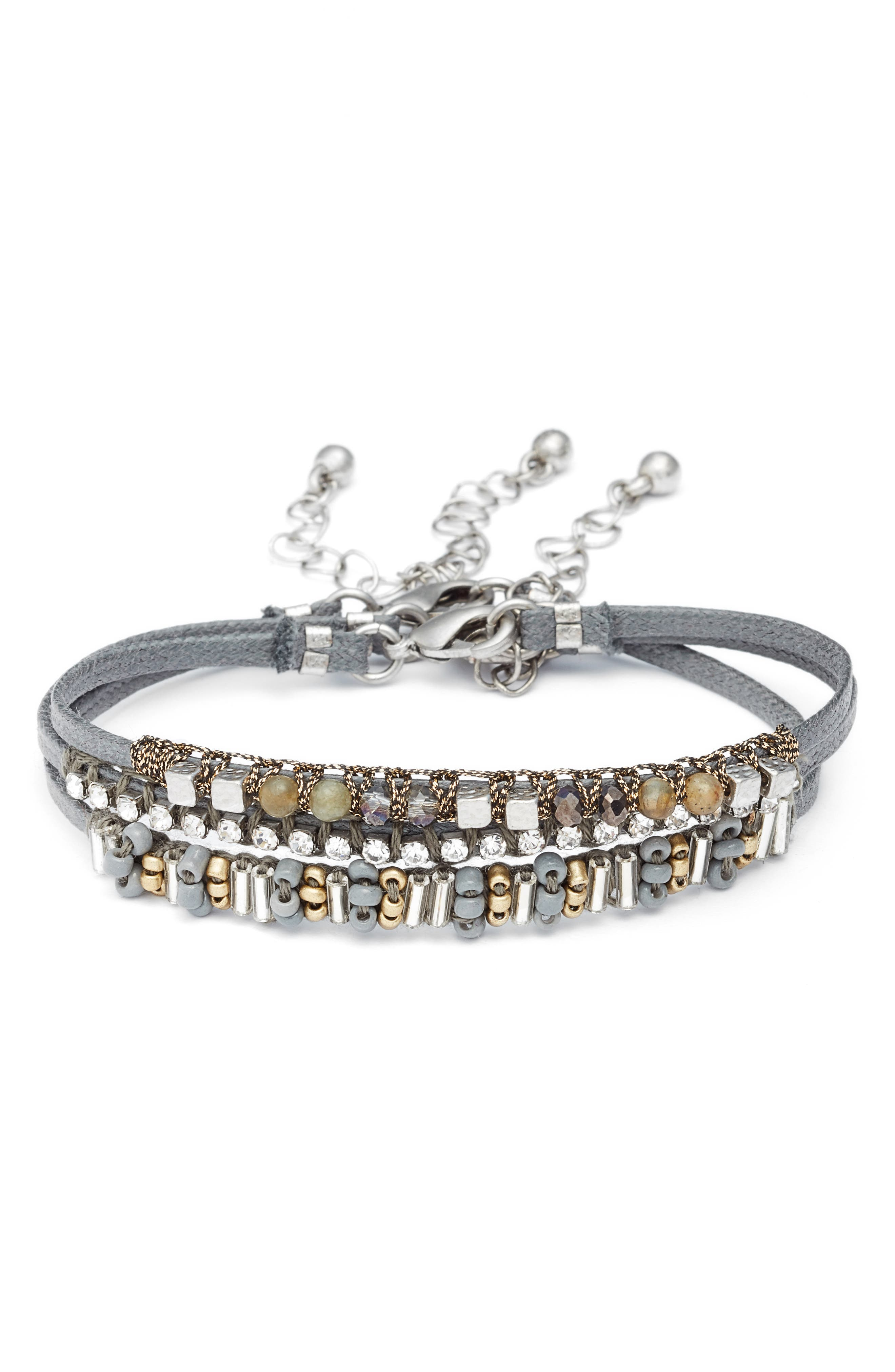 Set of 3 Bracelets,                             Main thumbnail 1, color,                             040