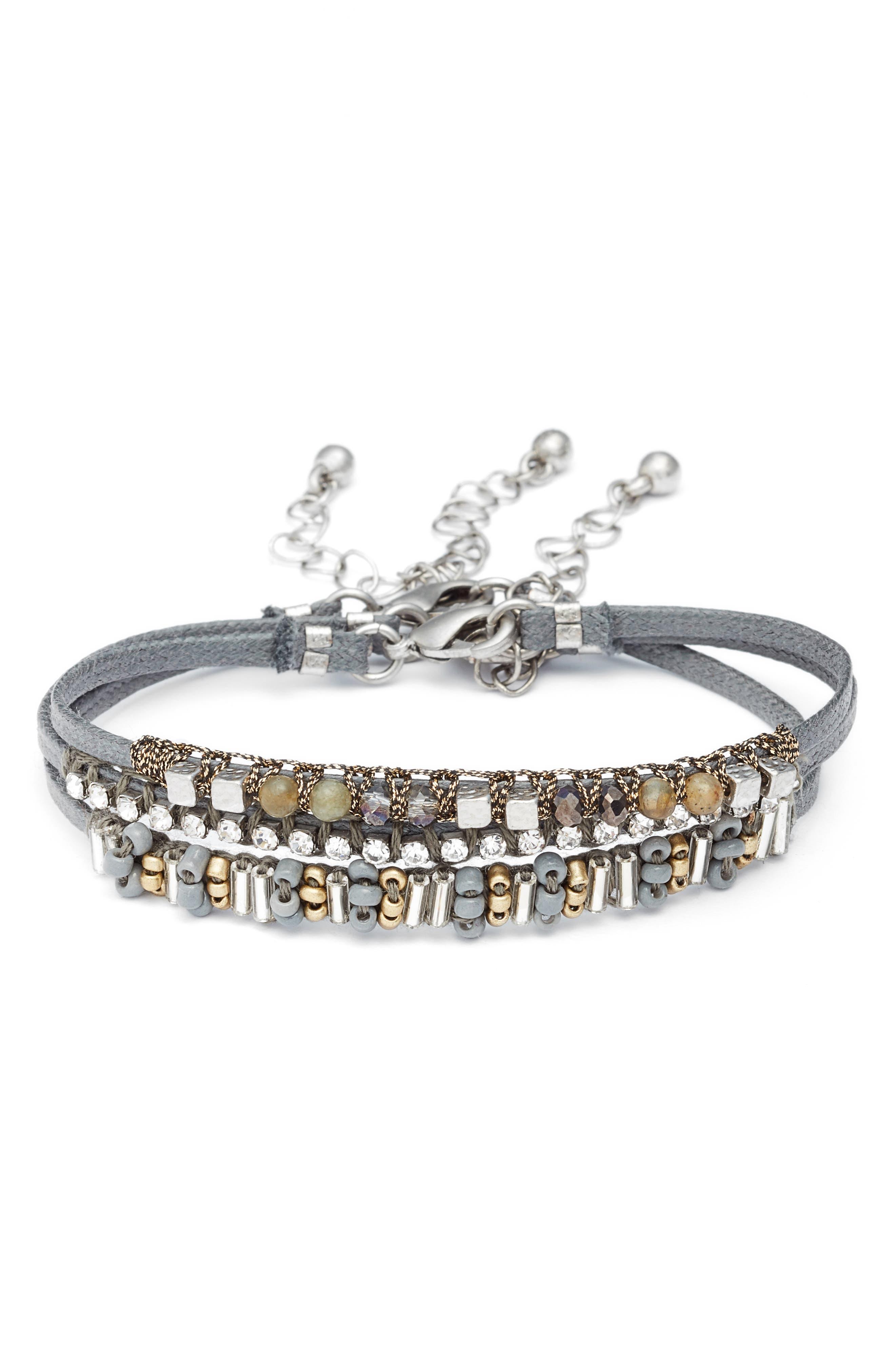 Set of 3 Bracelets,                         Main,                         color, 040