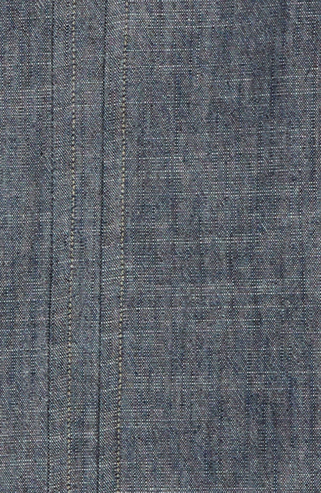 Chambray Band Collar Shirt,                             Alternate thumbnail 2, color,                             INDIGO WASH