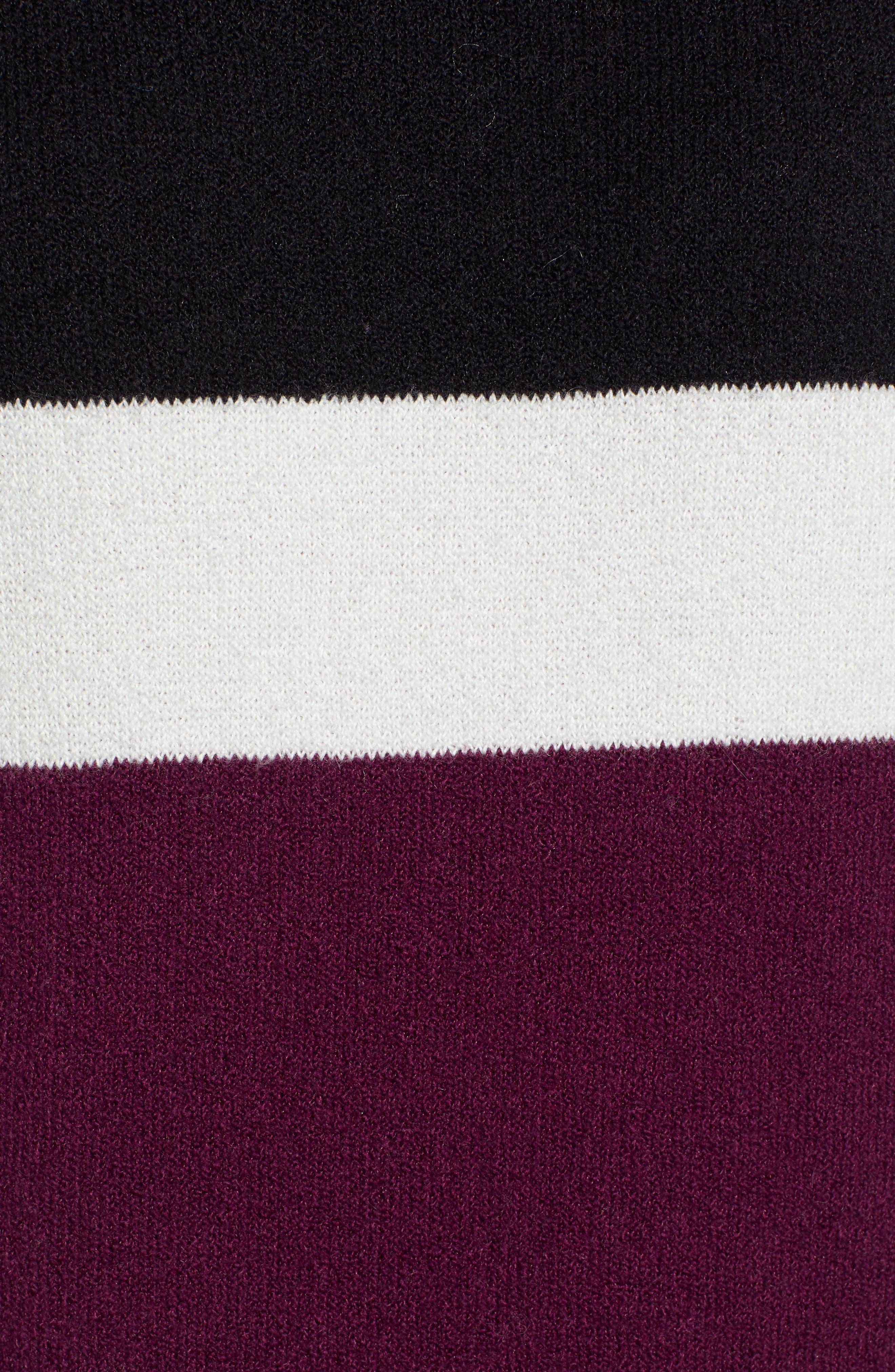 Stripe Sweater Dress,                             Alternate thumbnail 6, color,                             510