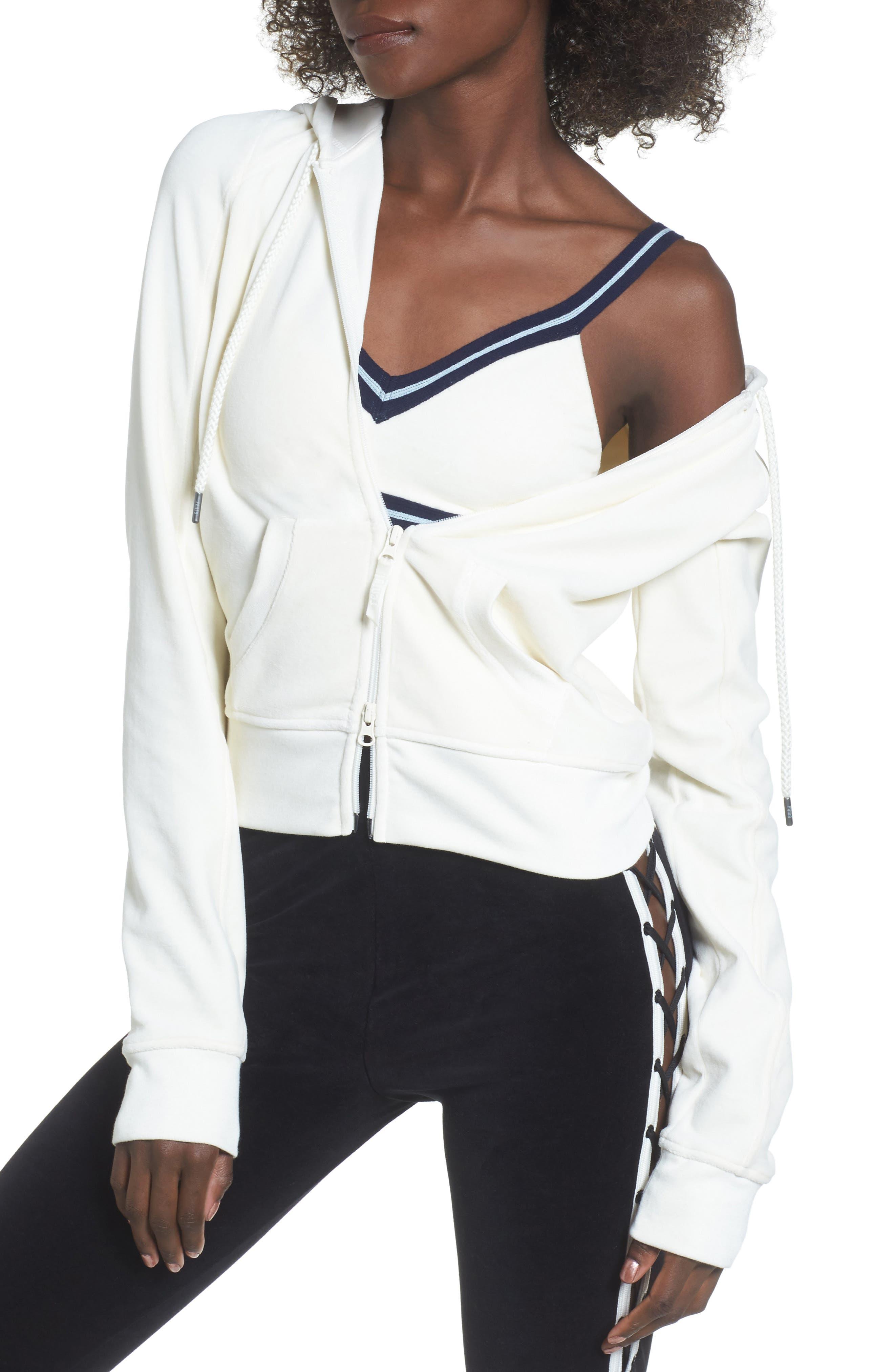 PUMA by Rihanna Velour Zip Hoodie,                         Main,                         color, 100