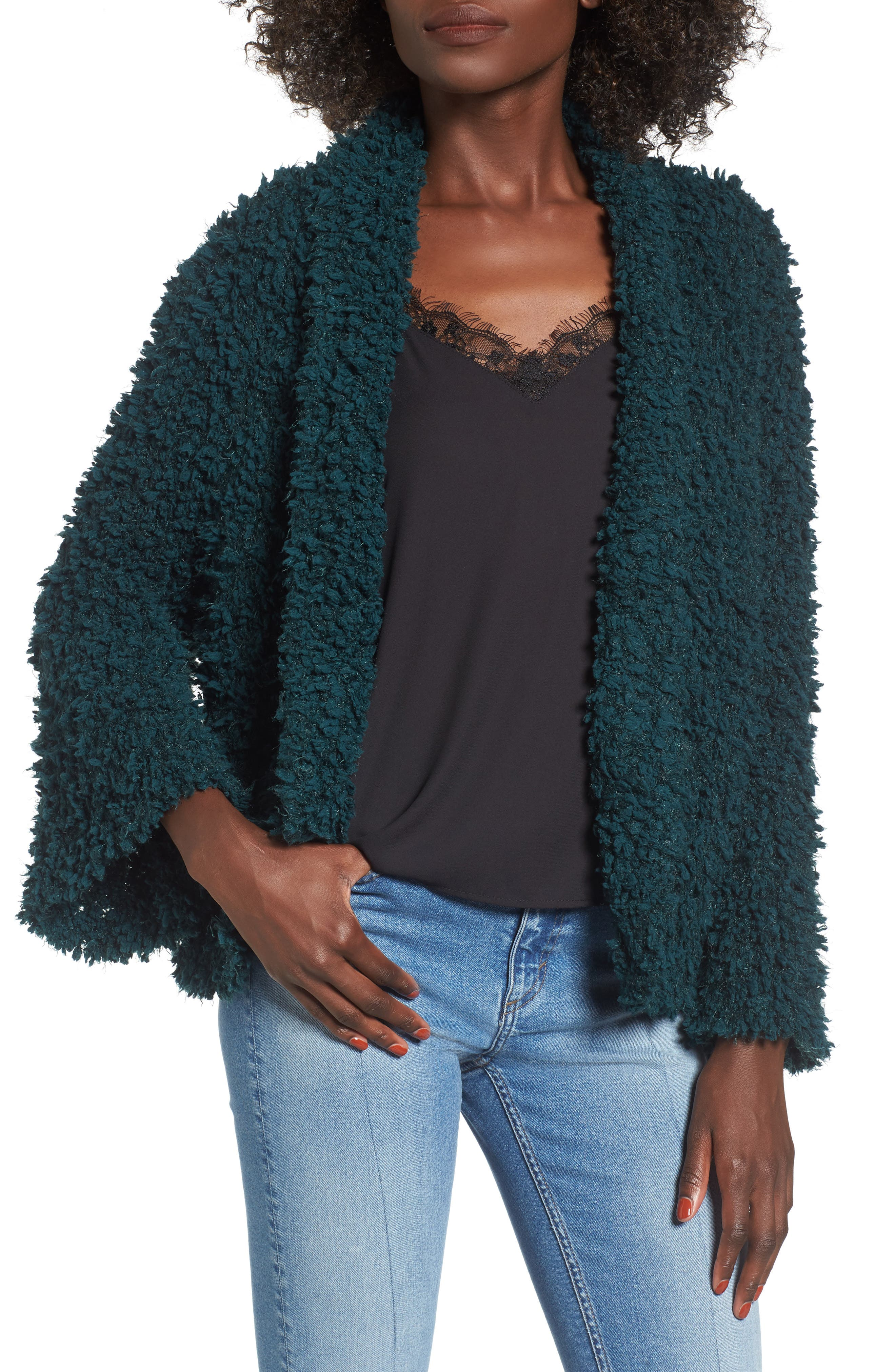 Fluffy Knit Cardigan,                         Main,                         color,