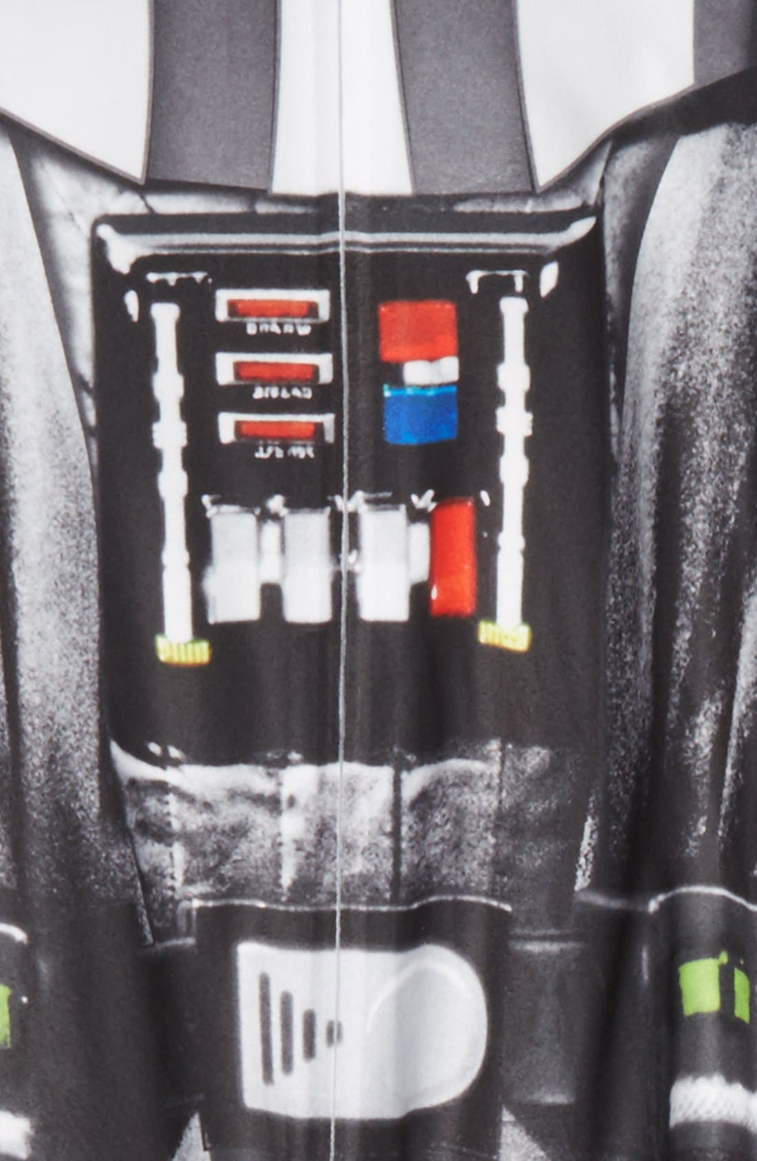 'Darth Vader' Footie Pajamas,                             Alternate thumbnail 2, color,                             001