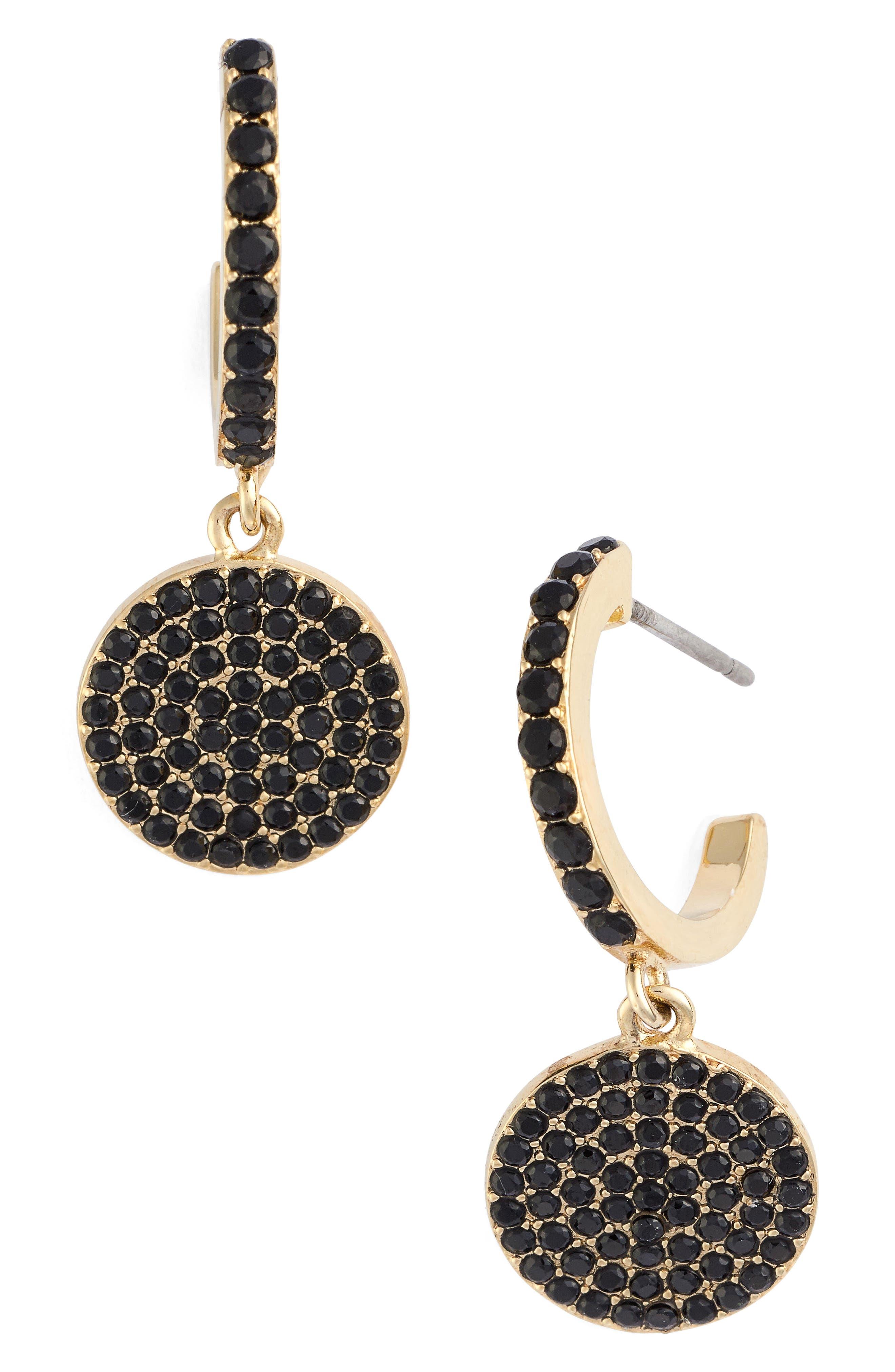 shine on pavé drop earrings,                         Main,                         color, 008
