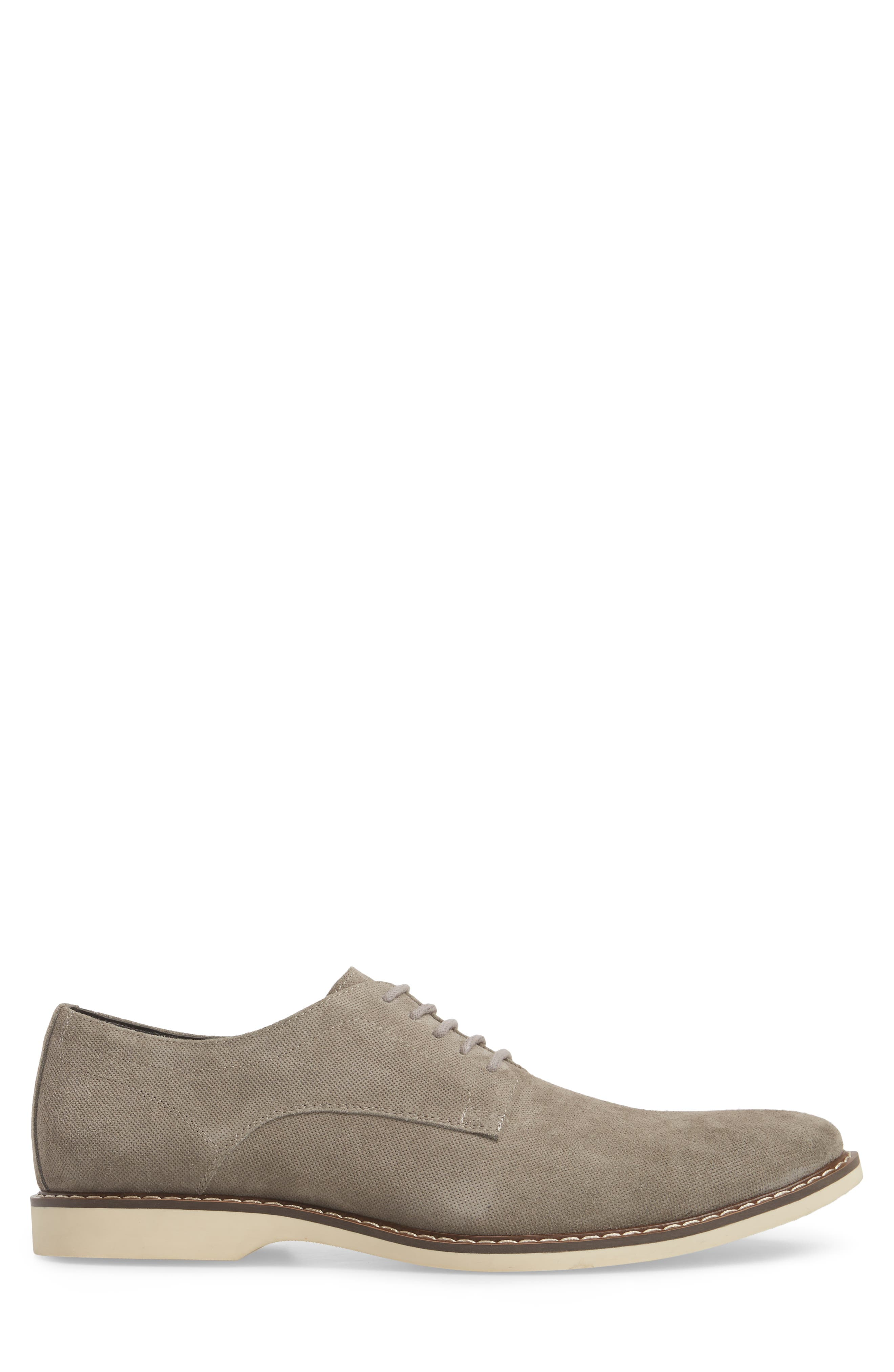 Georgetown Textured Derby,                             Alternate thumbnail 3, color,                             GREY SUEDE