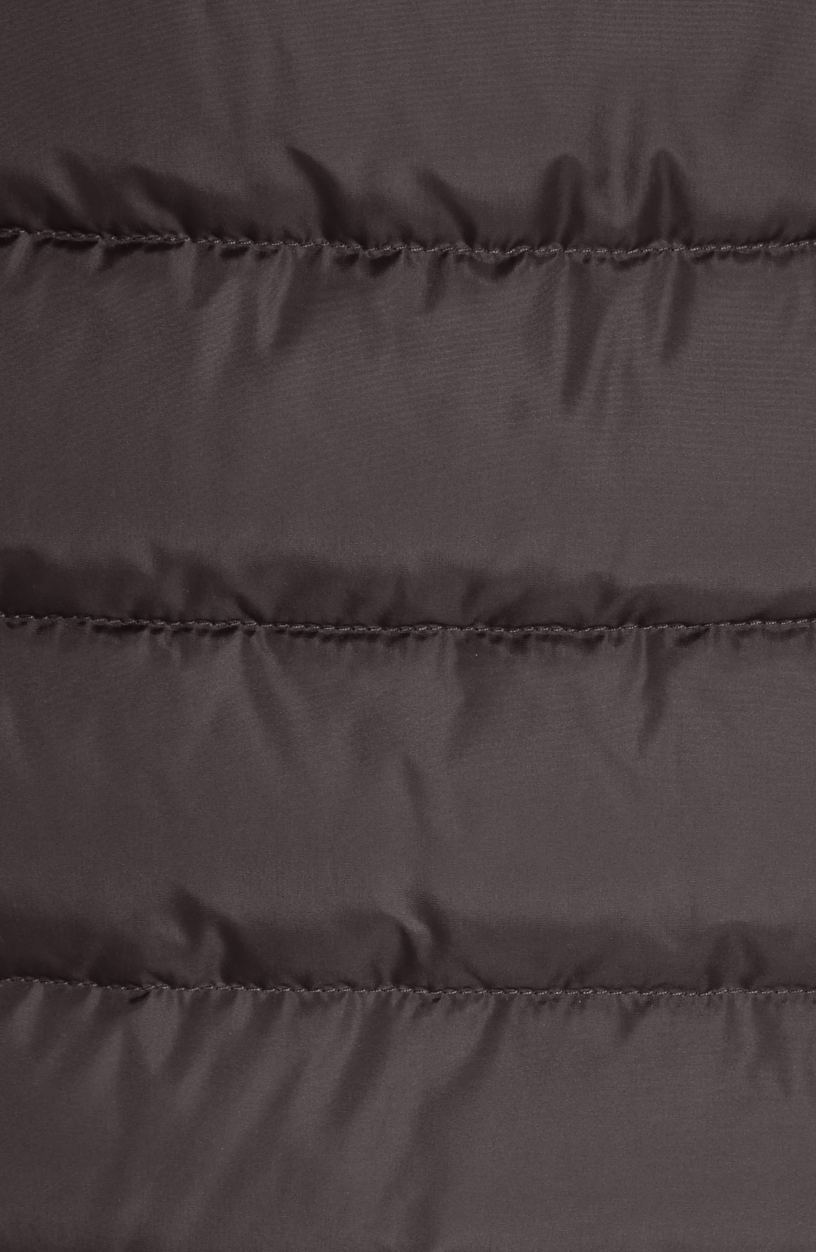 Taleve Hooded Quilted Down Coat,                             Alternate thumbnail 6, color,                             GREY
