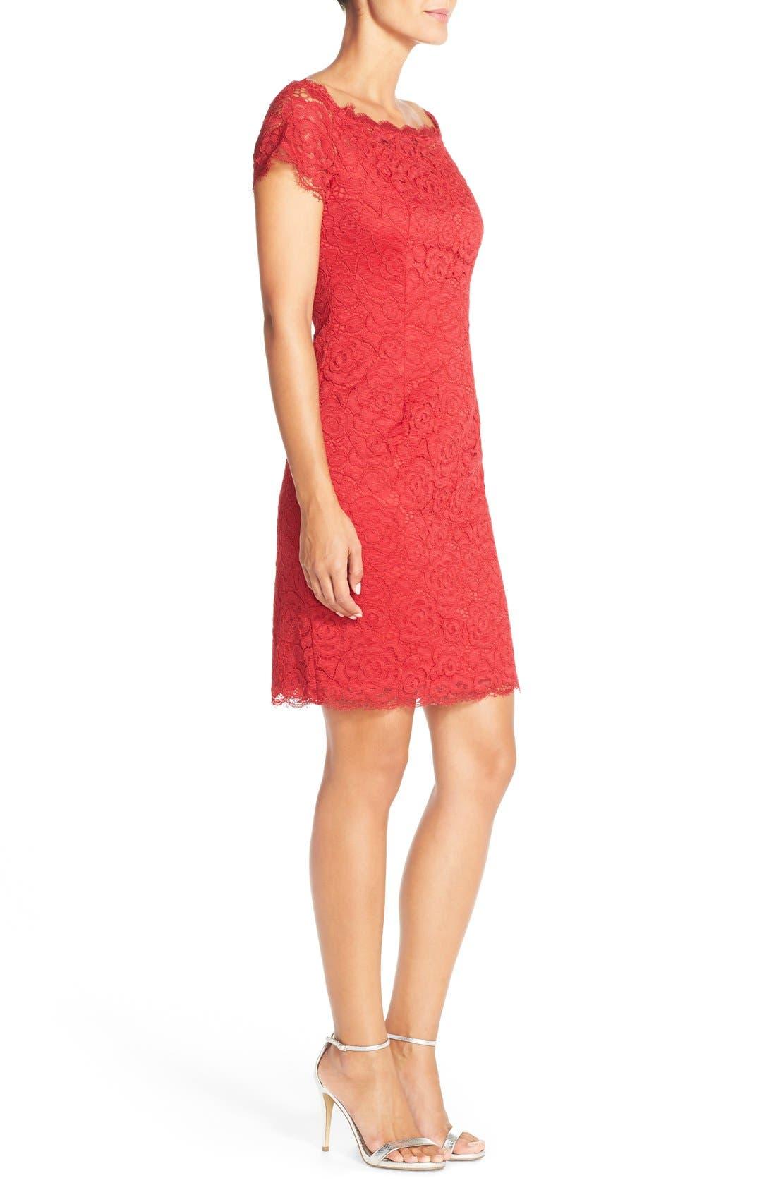 Off the Shoulder Lace Sheath Dress,                             Alternate thumbnail 29, color,