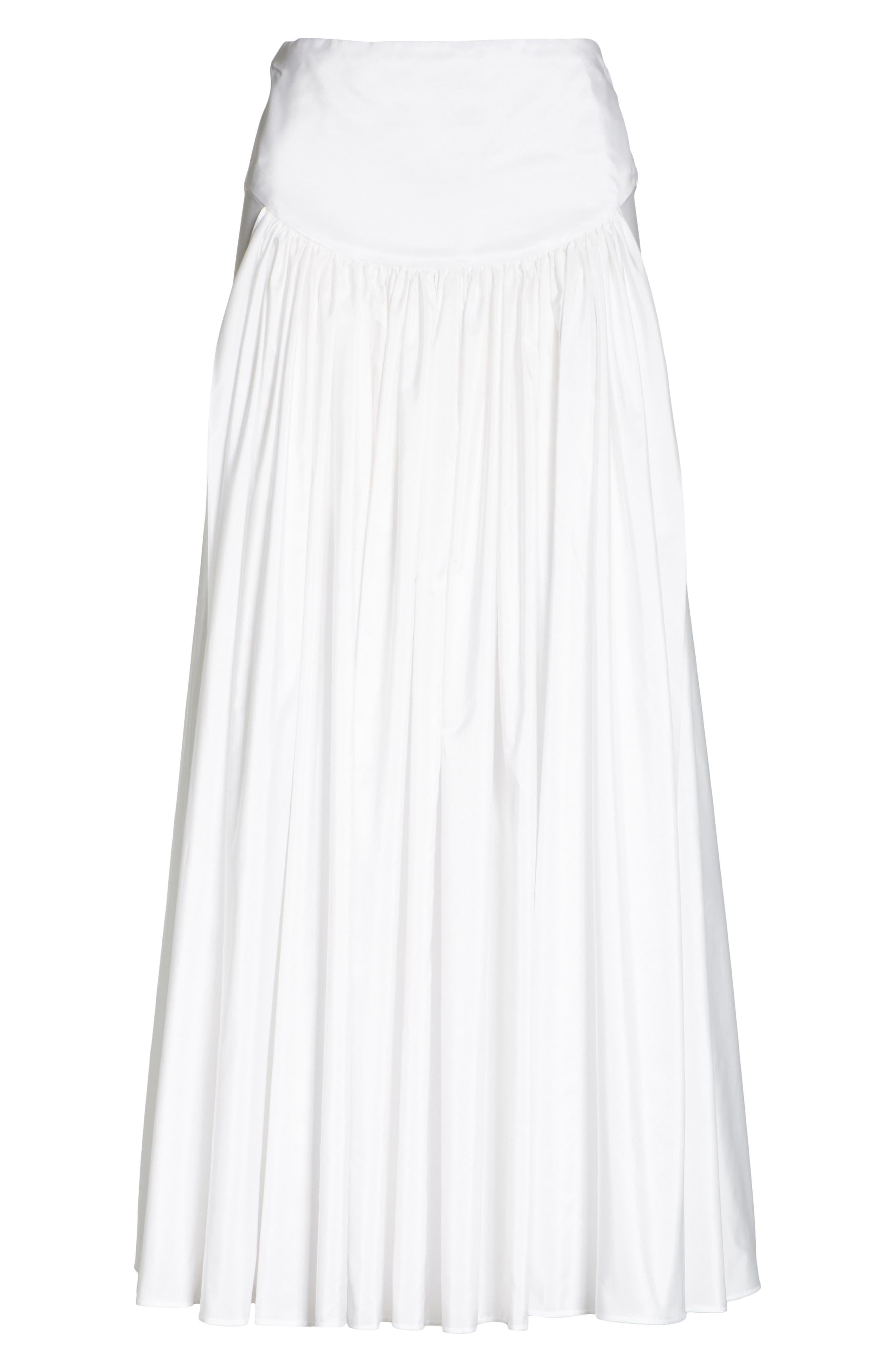 Taffeta Maxi Skirt,                             Alternate thumbnail 6, color,                             100