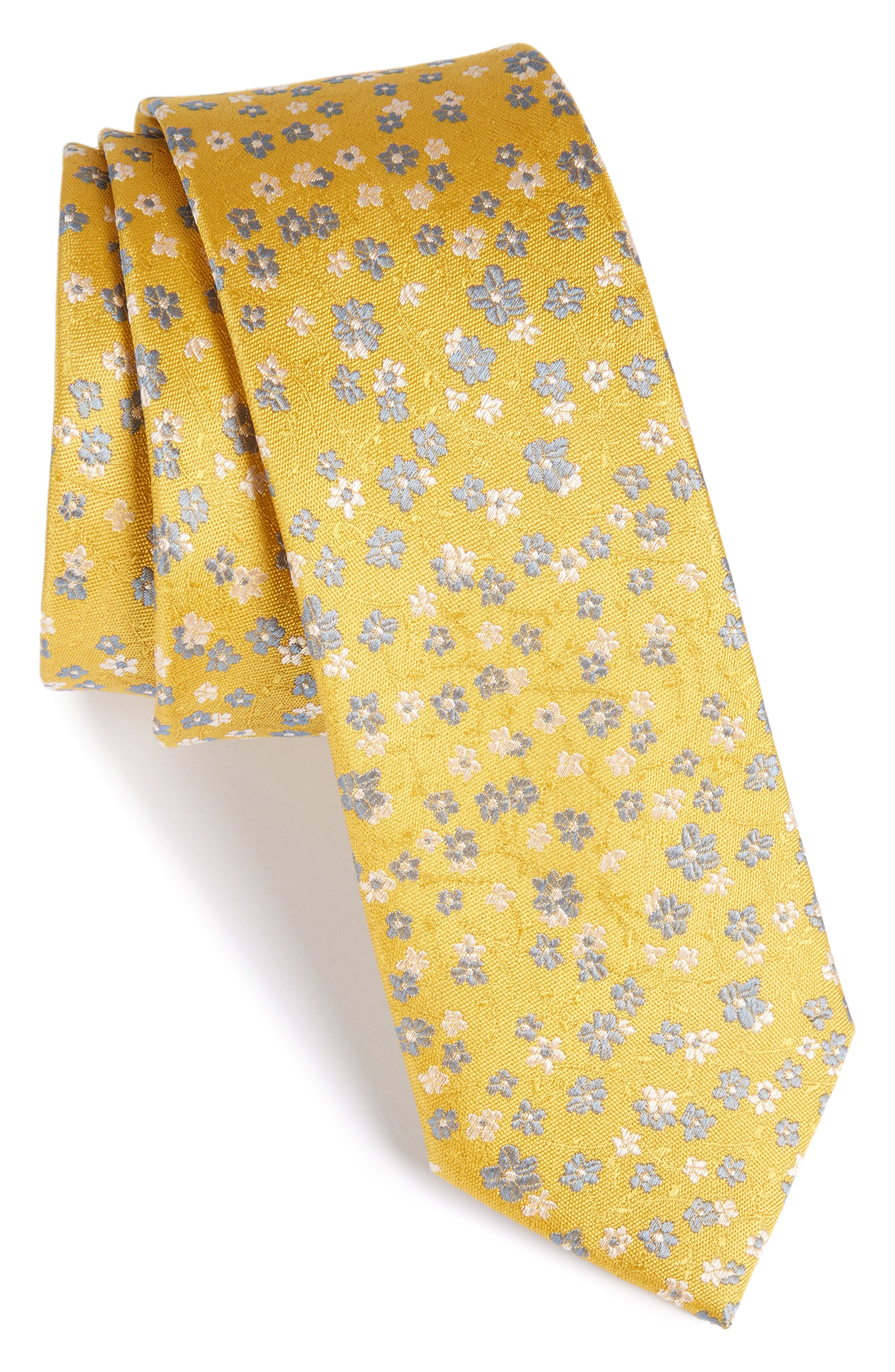 Freefall Floral Silk Tie,                             Main thumbnail 8, color,