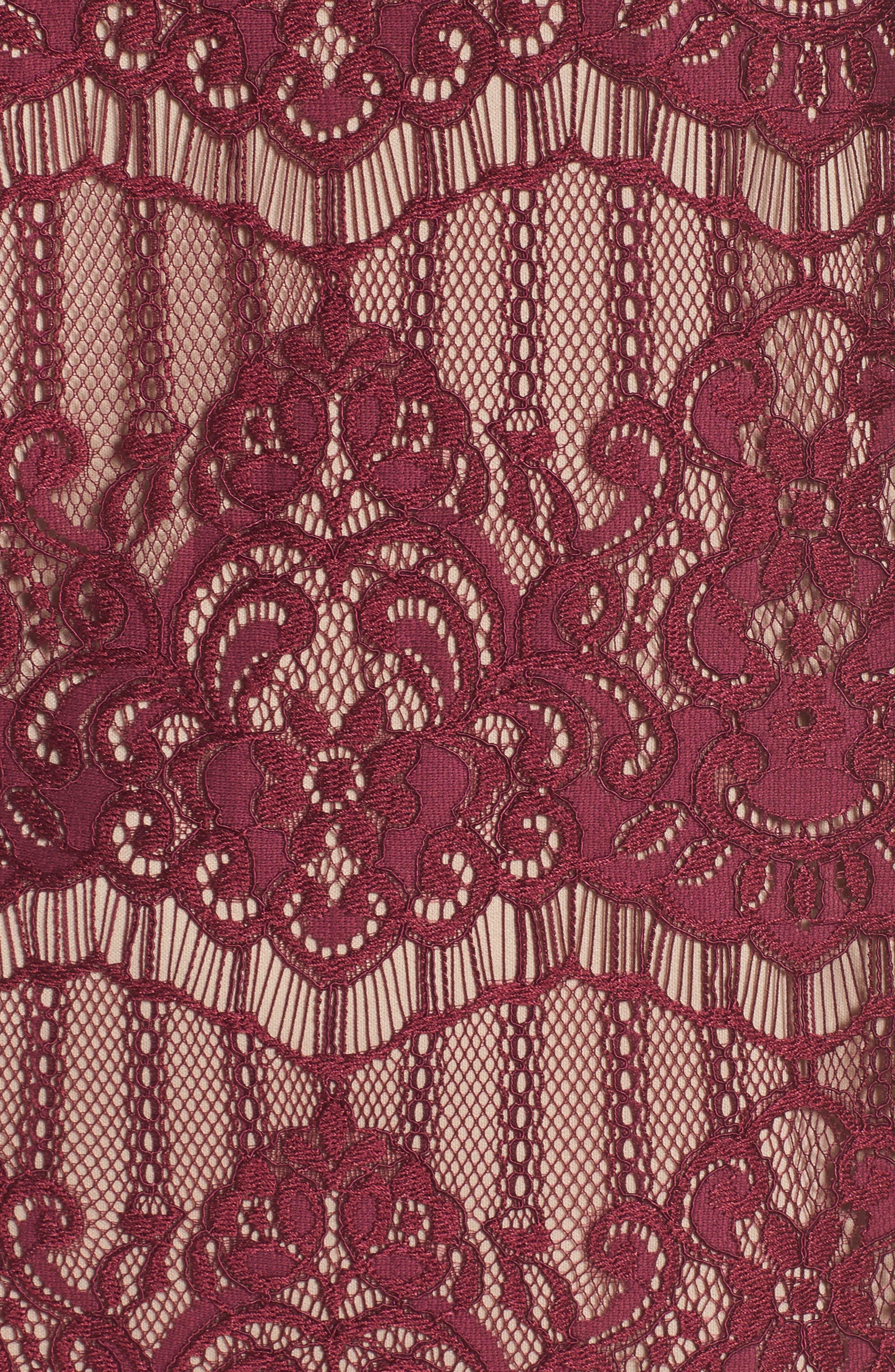 Scalloped Lace Sheath Dress,                             Alternate thumbnail 5, color,                             640