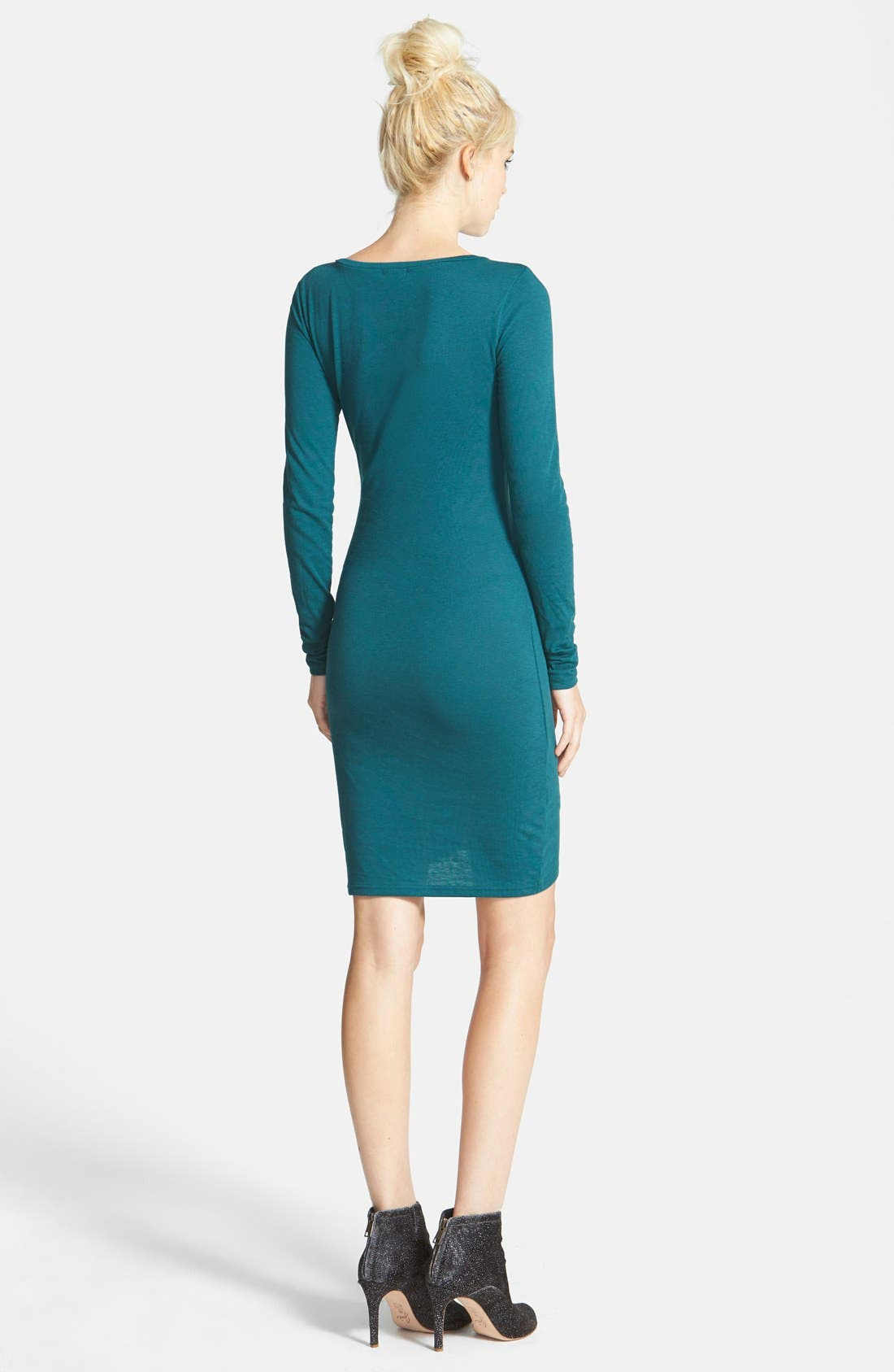 Ruched Long Sleeve Dress,                             Alternate thumbnail 44, color,
