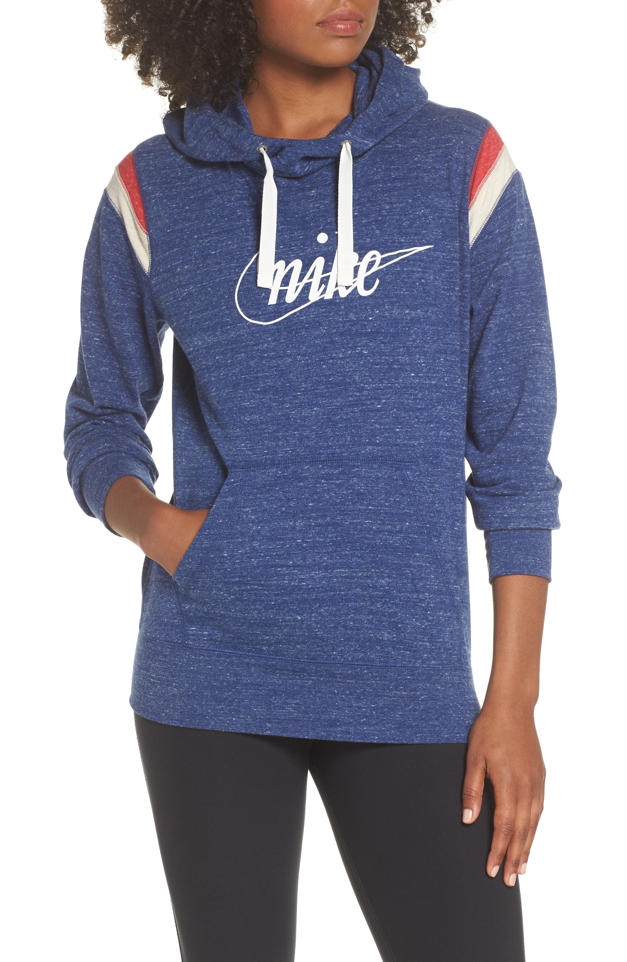 Sportswear Vintage Gym Hoodie,                             Main thumbnail 1, color,                             BLUE VOID/ SAIL