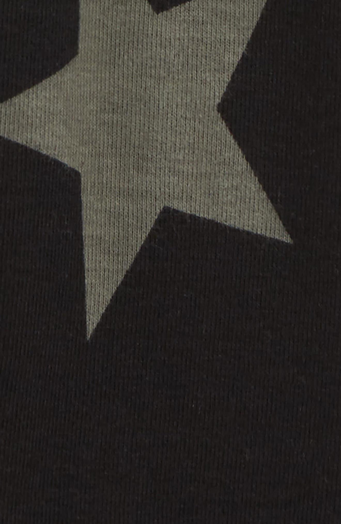 Star Print Leggings,                             Alternate thumbnail 2, color,                             BLACK