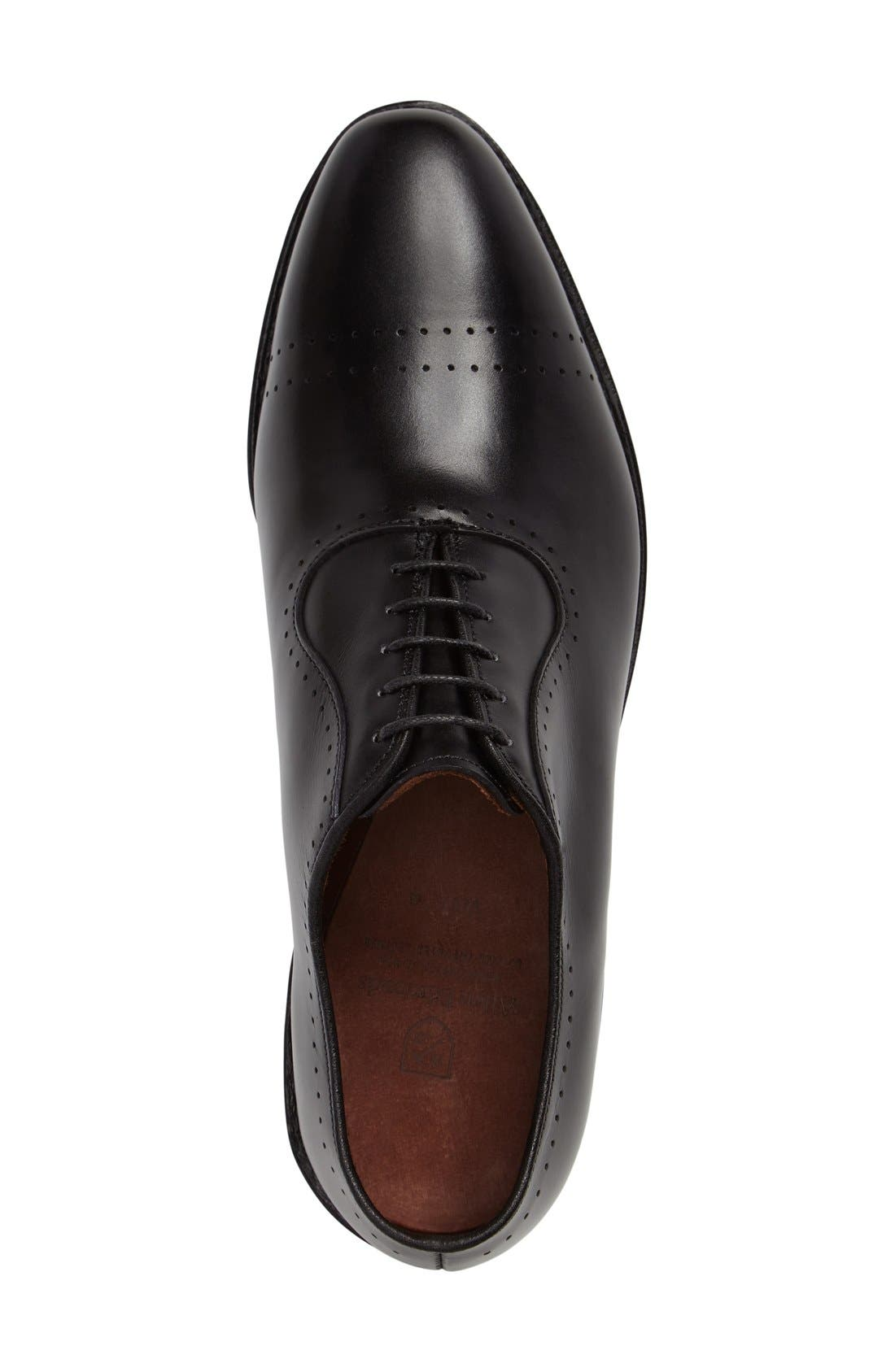 'Vernon' Oxford,                             Alternate thumbnail 6, color,                             BLACK CALF