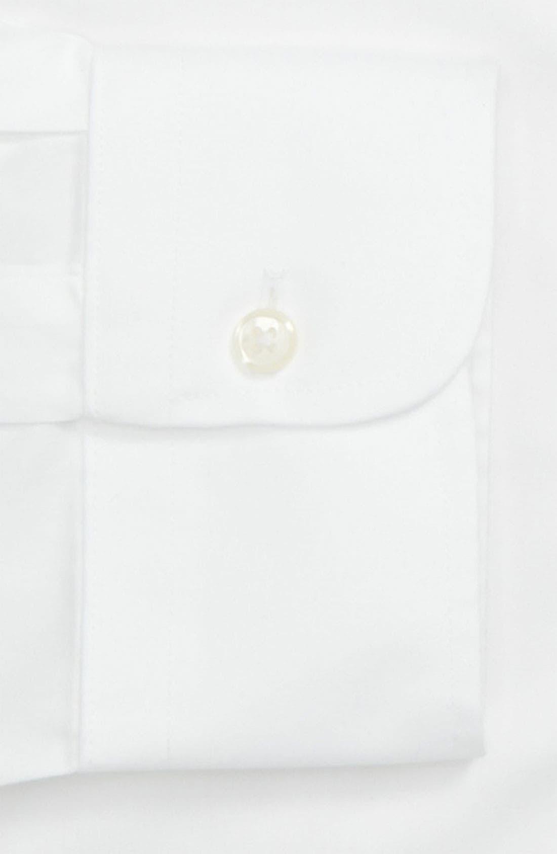 Smartcare<sup>™</sup> Classic Fit Pinpoint Dress Shirt,                             Alternate thumbnail 2, color,                             WHITE