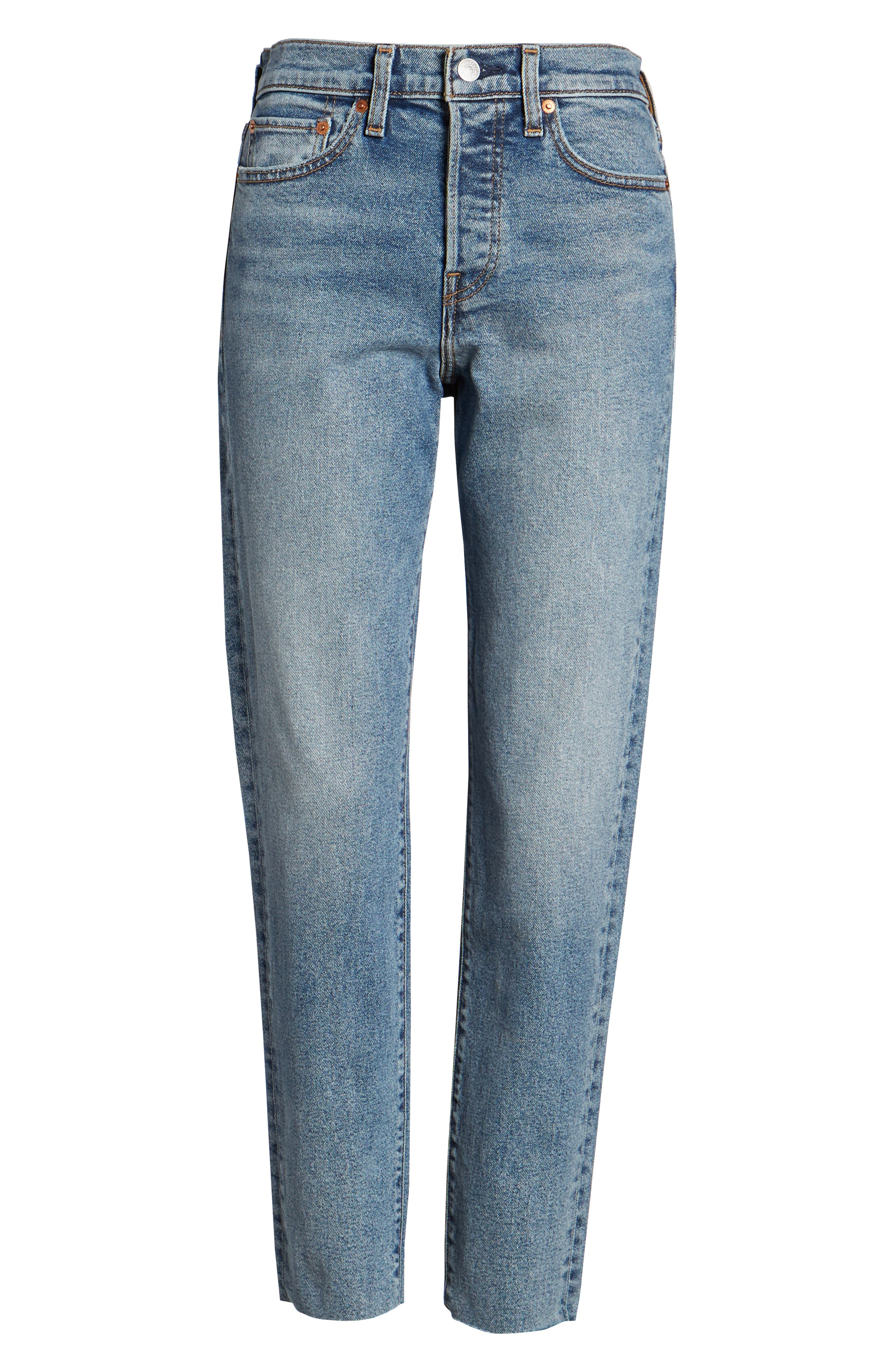 Wedgie Icon Fit High Waist Crop Jeans,                             Alternate thumbnail 6, color,                             401