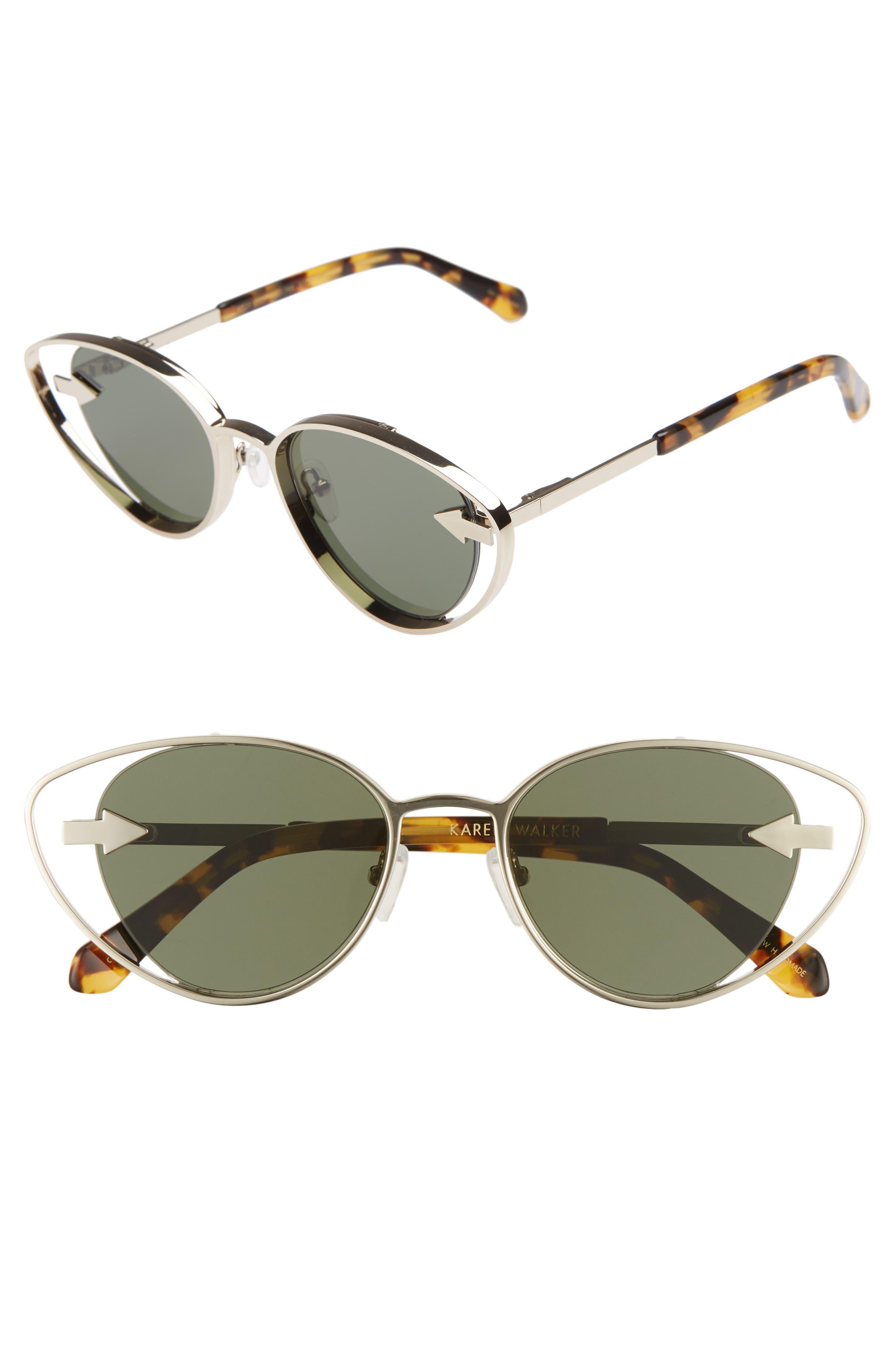 Kissy Kissy 51mm Cat Eye Sunglasses,                         Main,                         color, GOLD/ TORTOISE