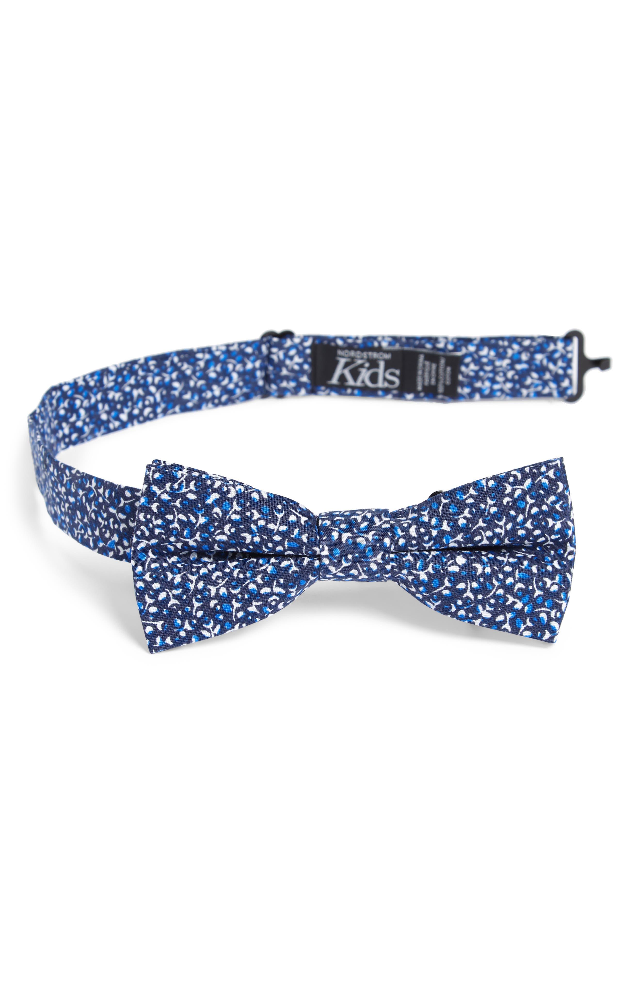 Print Cotton Bow Tie,                         Main,                         color, NAVY